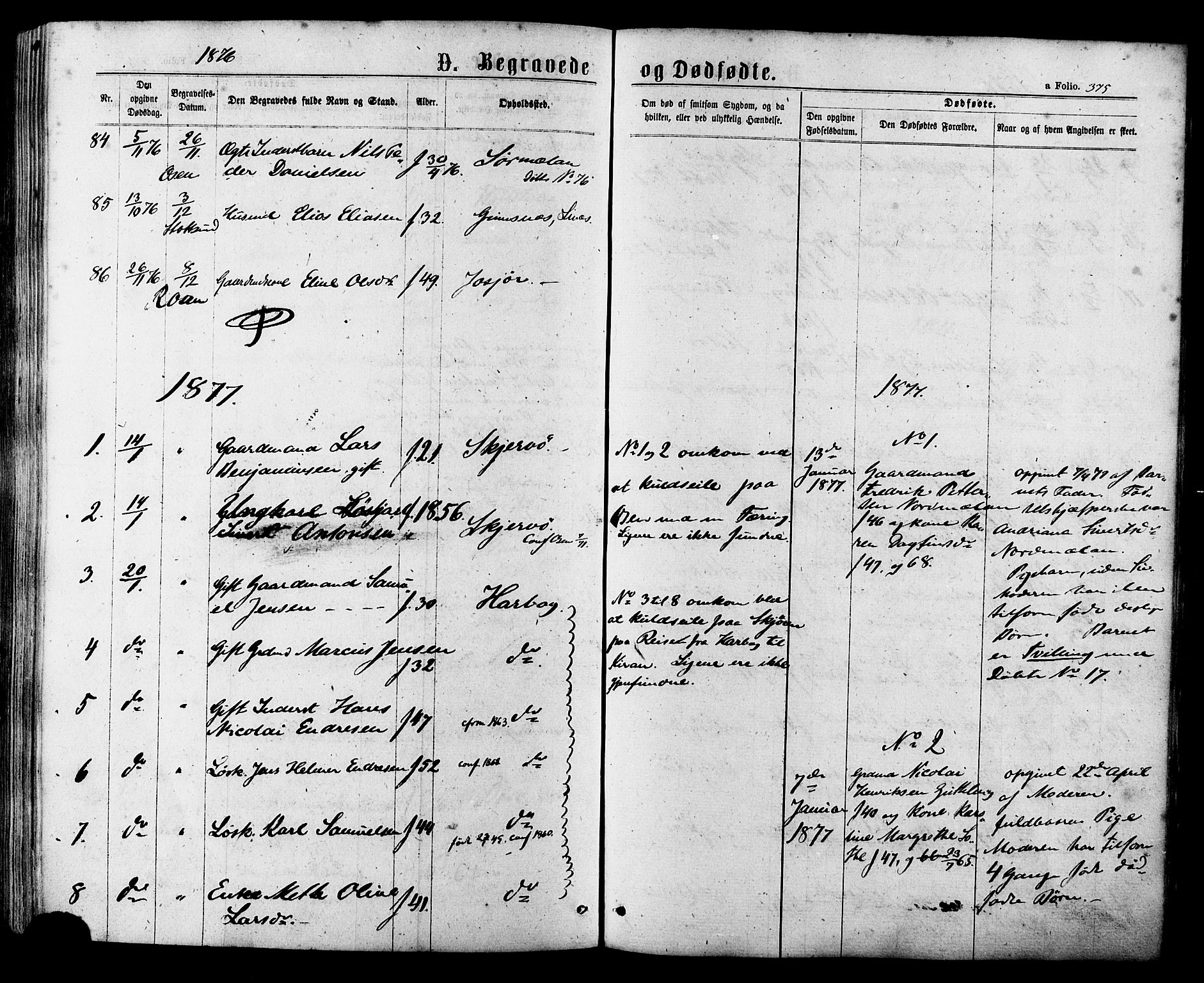 SAT, Ministerialprotokoller, klokkerbøker og fødselsregistre - Sør-Trøndelag, 657/L0706: Ministerialbok nr. 657A07, 1867-1878, s. 375