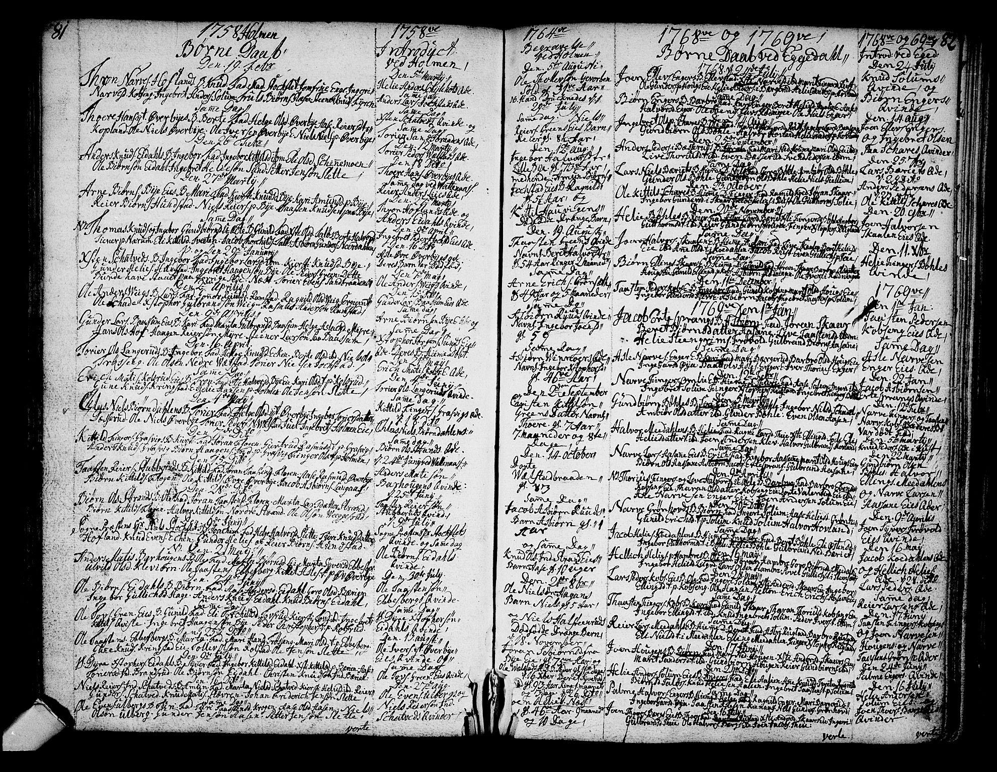 SAKO, Sigdal kirkebøker, F/Fa/L0001: Ministerialbok nr. I 1, 1722-1777, s. 81-82
