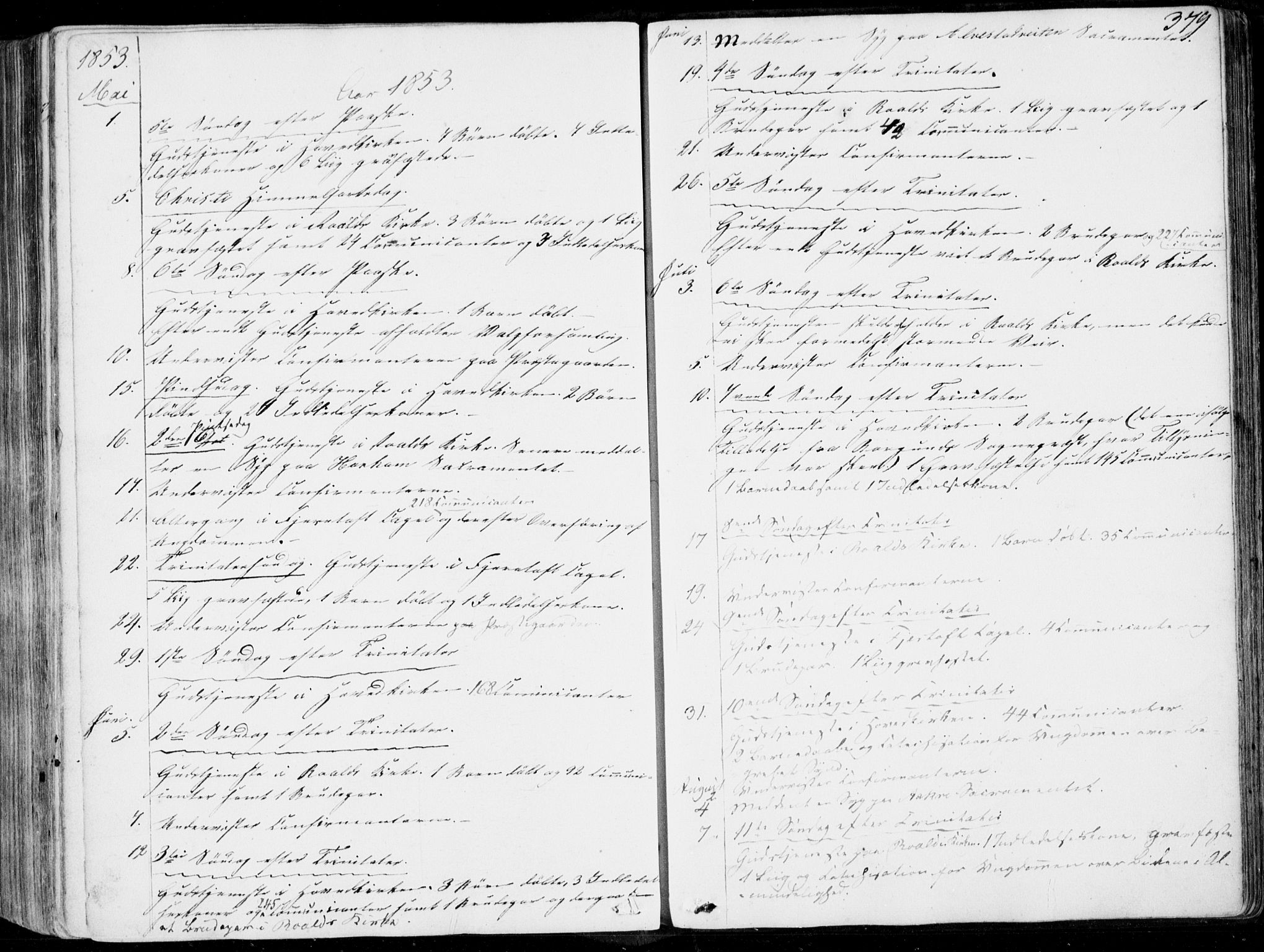 SAT, Ministerialprotokoller, klokkerbøker og fødselsregistre - Møre og Romsdal, 536/L0497: Ministerialbok nr. 536A06, 1845-1865, s. 379