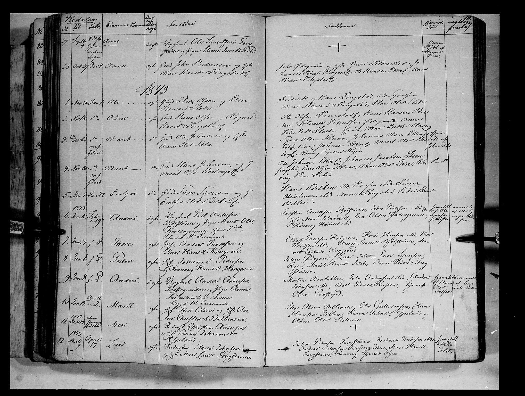 SAH, Vågå prestekontor, Ministerialbok nr. 5 /2, 1842-1856, s. 111
