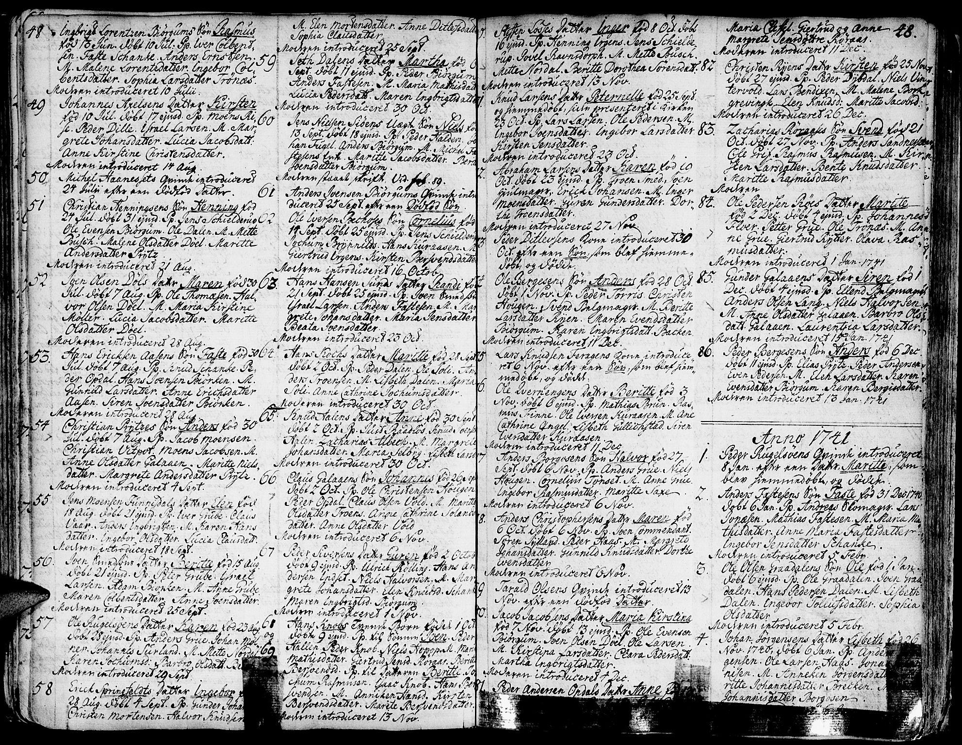 SAT, Ministerialprotokoller, klokkerbøker og fødselsregistre - Sør-Trøndelag, 681/L0925: Ministerialbok nr. 681A03, 1727-1766, s. 48