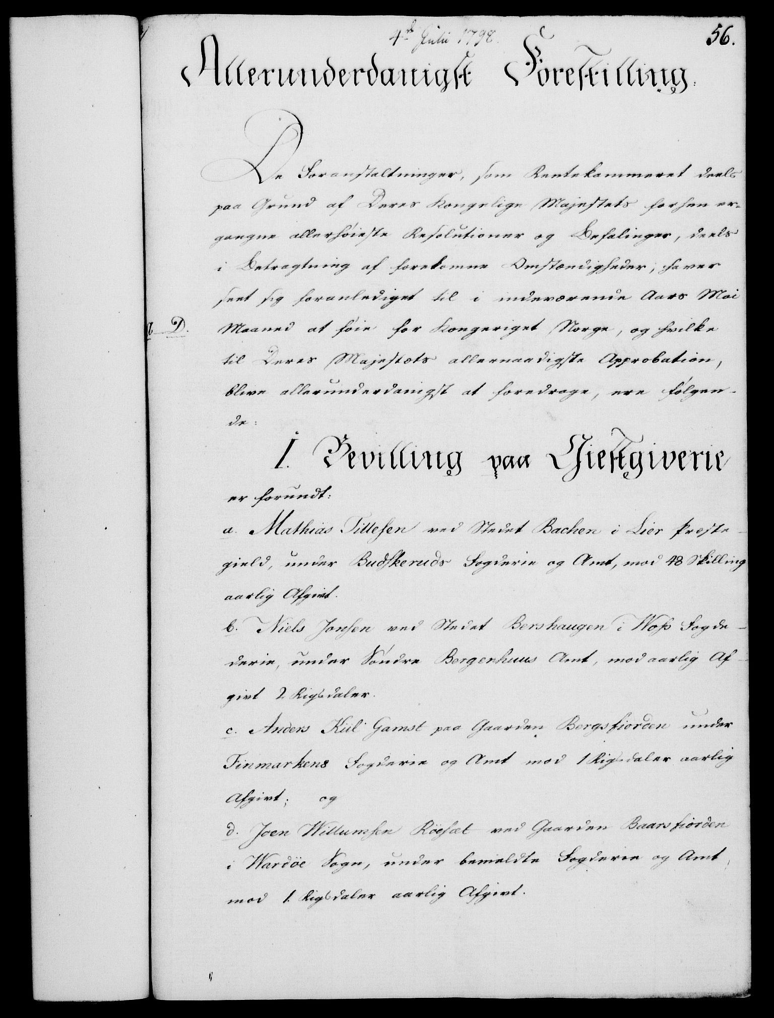 RA, Rentekammeret, Kammerkanselliet, G/Gf/Gfa/L0080: Norsk relasjons- og resolusjonsprotokoll (merket RK 52.80), 1798, s. 401
