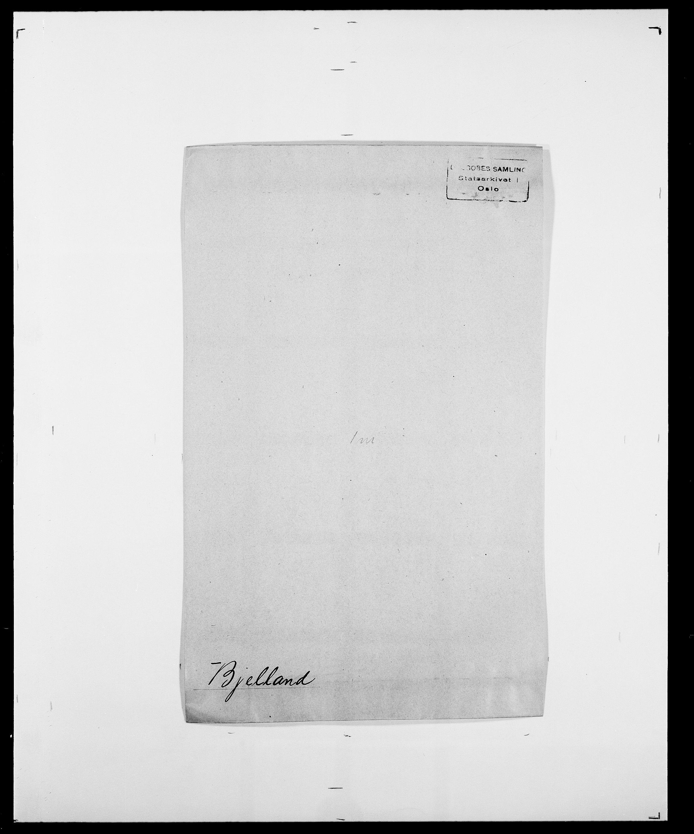 SAO, Delgobe, Charles Antoine - samling, D/Da/L0004: Bergendahl - Blære, s. 414