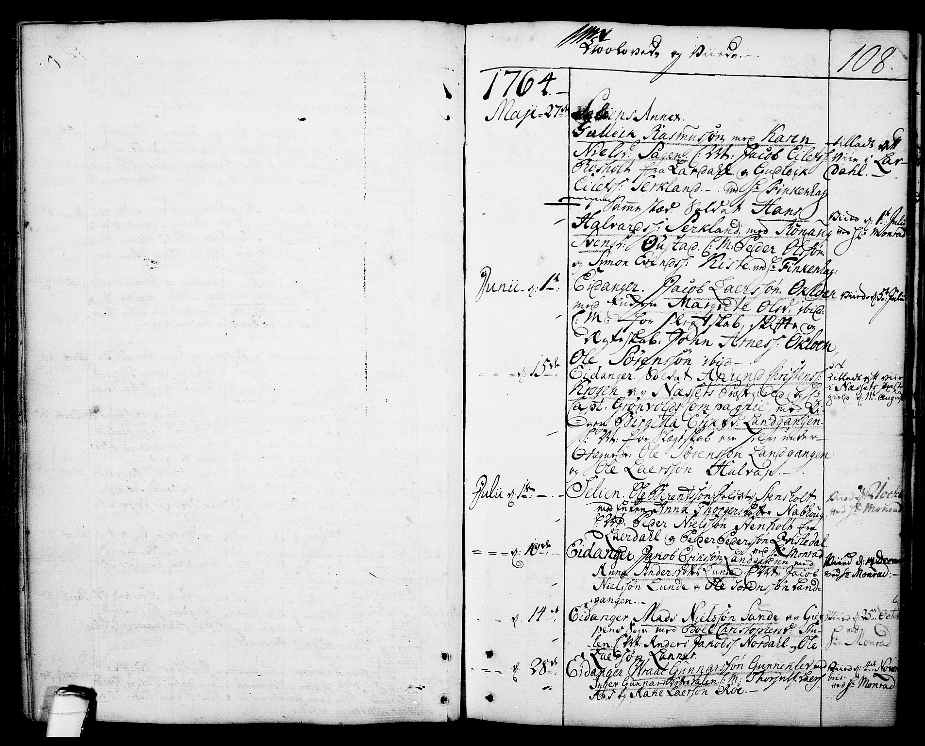 SAKO, Eidanger kirkebøker, F/Fa/L0006: Ministerialbok nr. 6, 1764-1814, s. 108