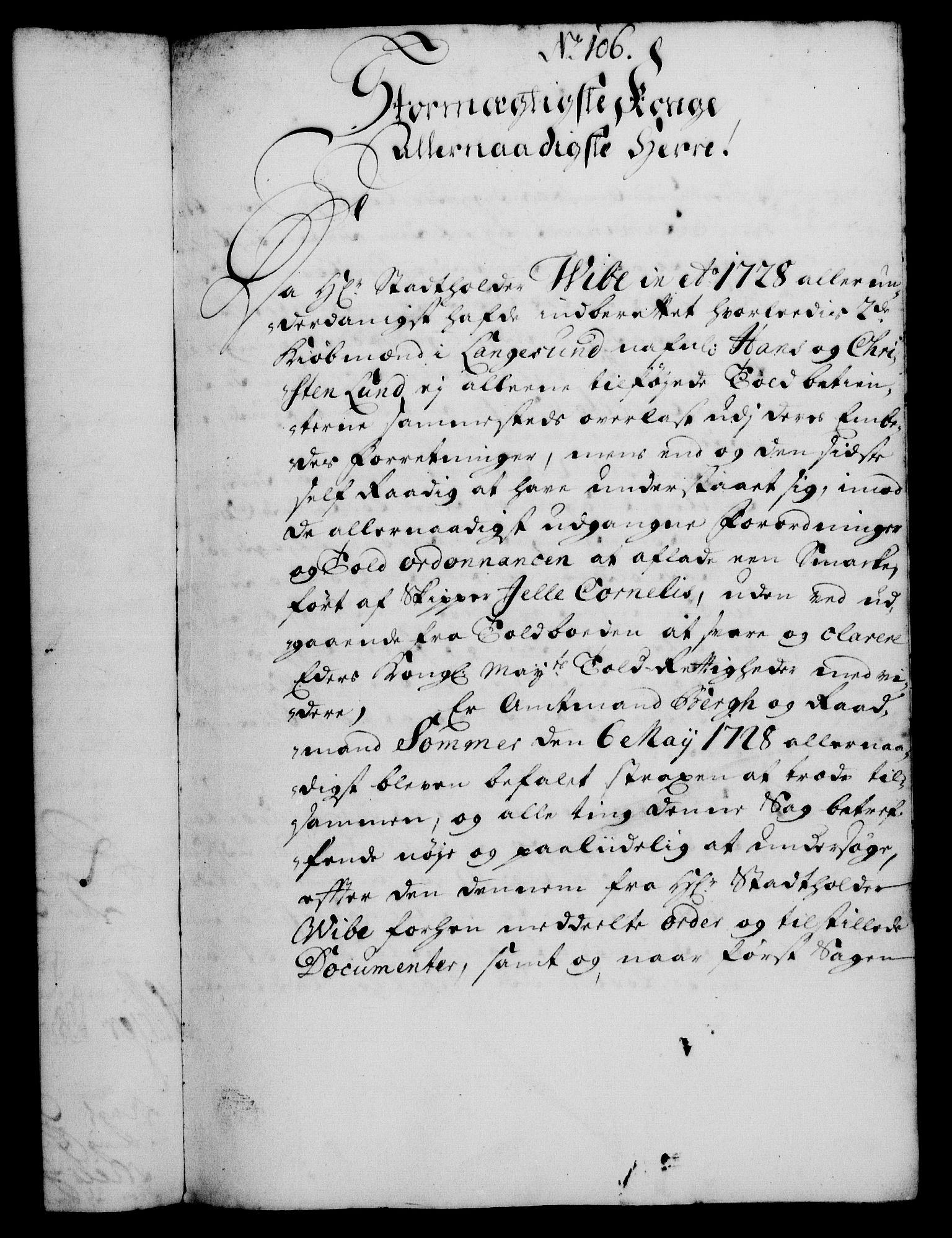 RA, Rentekammeret, Kammerkanselliet, G/Gf/Gfa/L0012: Norsk relasjons- og resolusjonsprotokoll (merket RK 52.12), 1729, s. 578