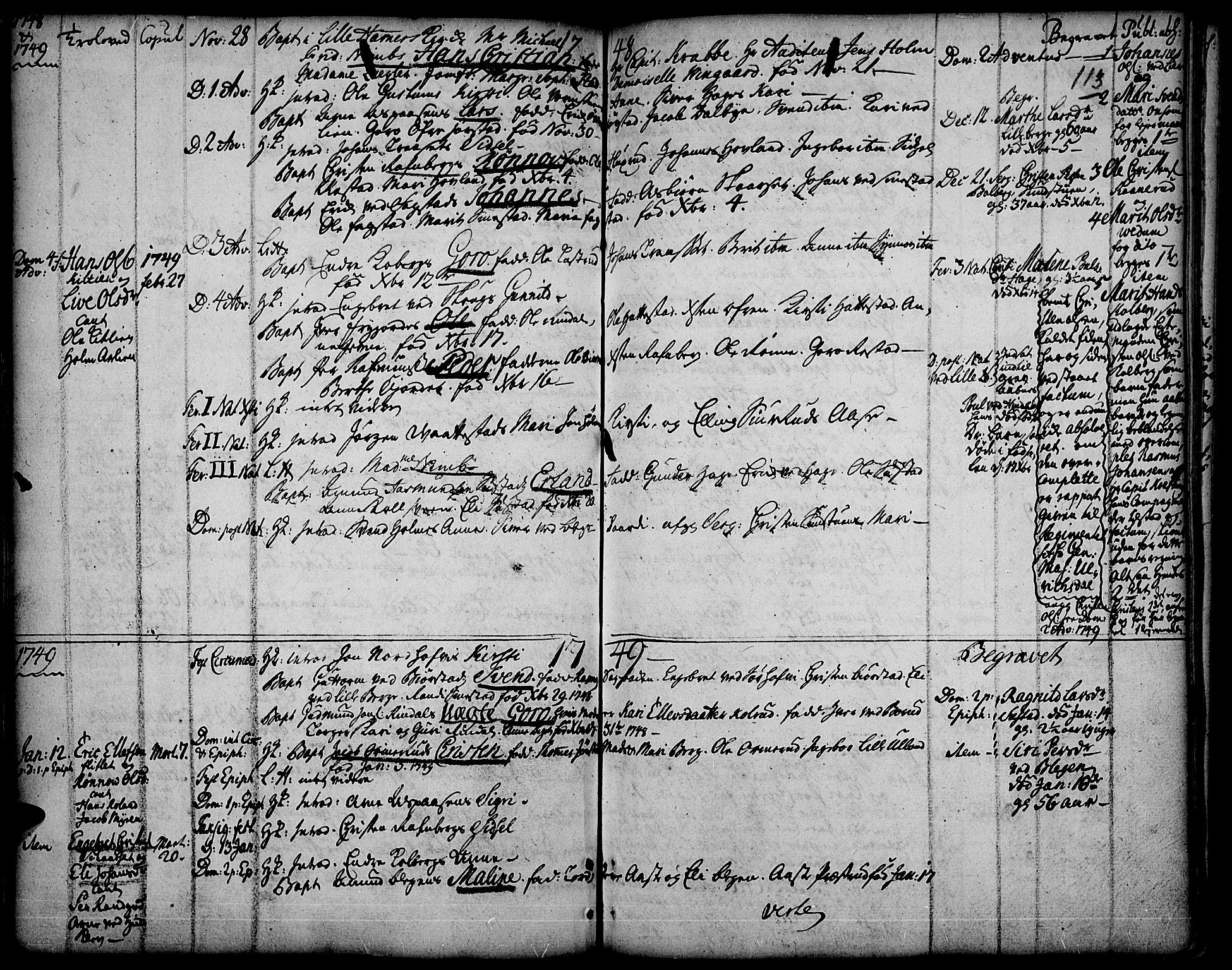 SAH, Fåberg prestekontor, Ministerialbok nr. 1, 1727-1775, s. 113