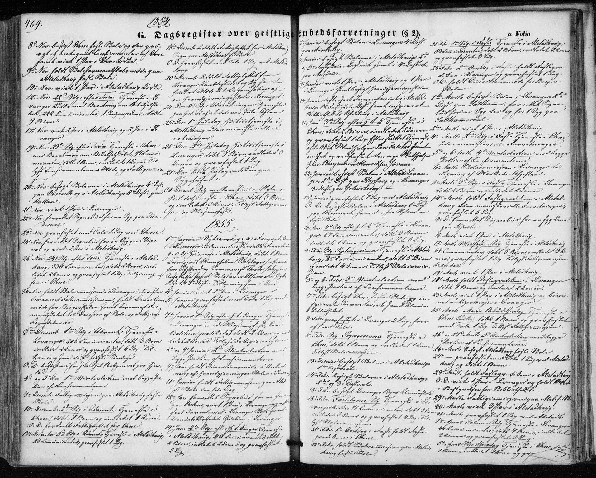 SAT, Ministerialprotokoller, klokkerbøker og fødselsregistre - Nord-Trøndelag, 717/L0154: Ministerialbok nr. 717A07 /1, 1850-1862, s. 464