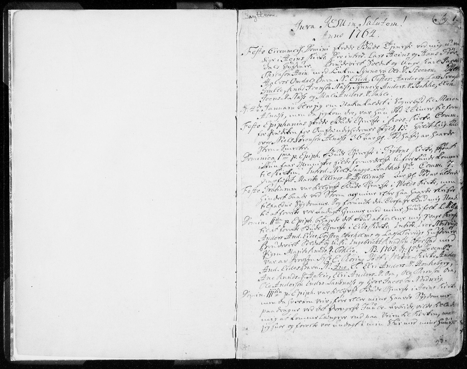 SAT, Ministerialprotokoller, klokkerbøker og fødselsregistre - Møre og Romsdal, 544/L0569: Ministerialbok nr. 544A02, 1764-1806, s. 0-1