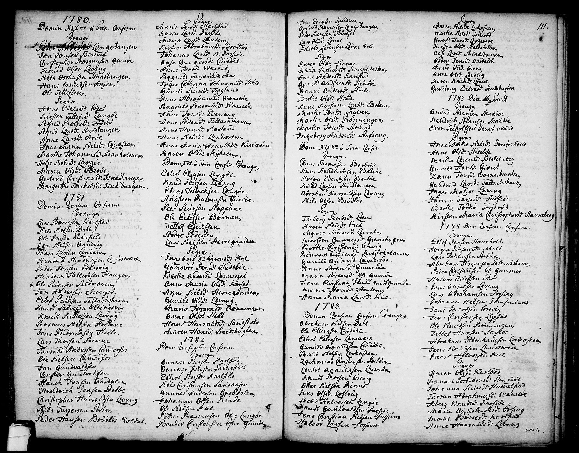 SAKO, Sannidal kirkebøker, F/Fa/L0002: Ministerialbok nr. 2, 1767-1802, s. 111