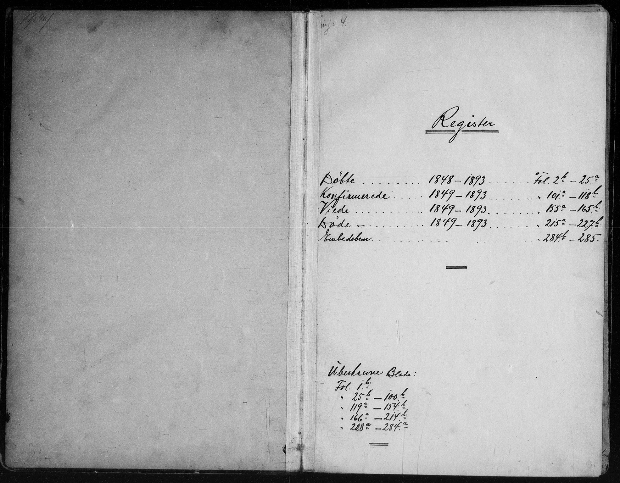 SAKO, Vinje kirkebøker, G/Ga/L0002: Klokkerbok nr. I 2, 1849-1893