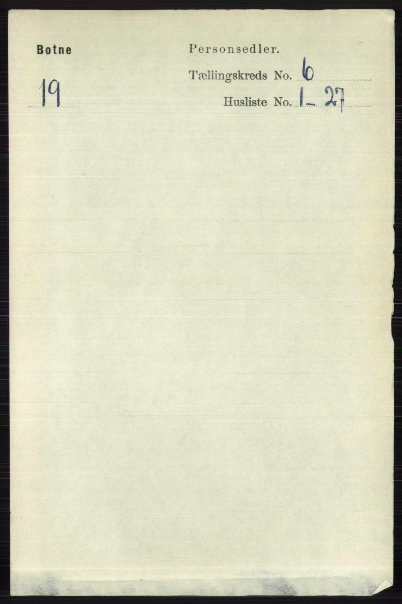 RA, Folketelling 1891 for 0715 Botne herred, 1891, s. 2289