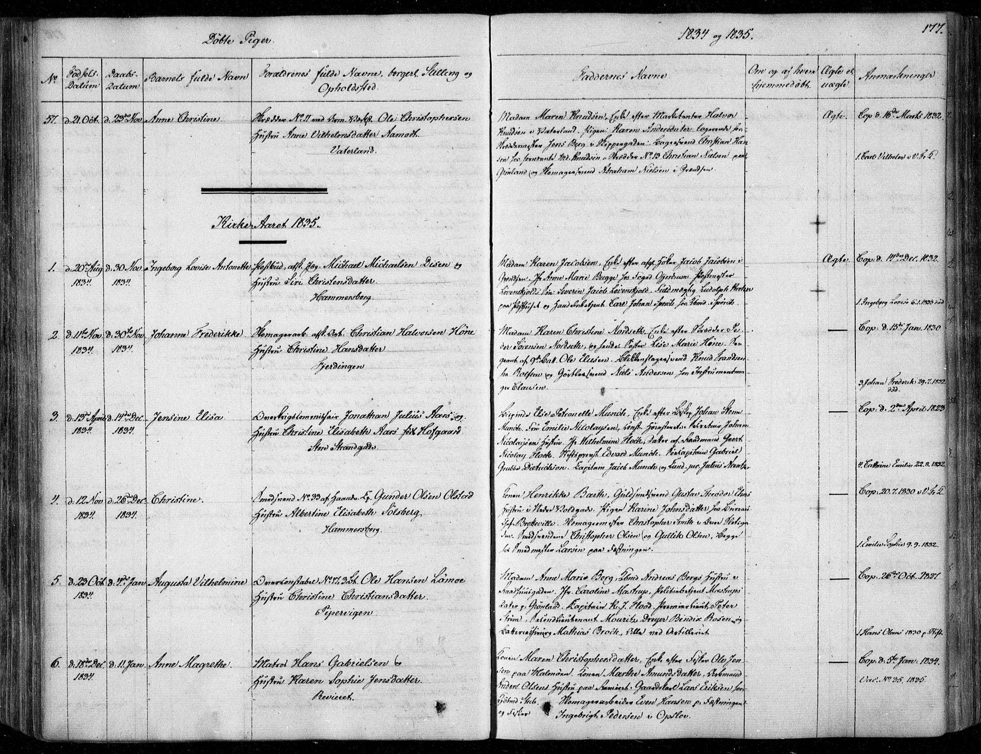 SAO, Garnisonsmenigheten Kirkebøker, F/Fa/L0006: Ministerialbok nr. 6, 1828-1841, s. 177