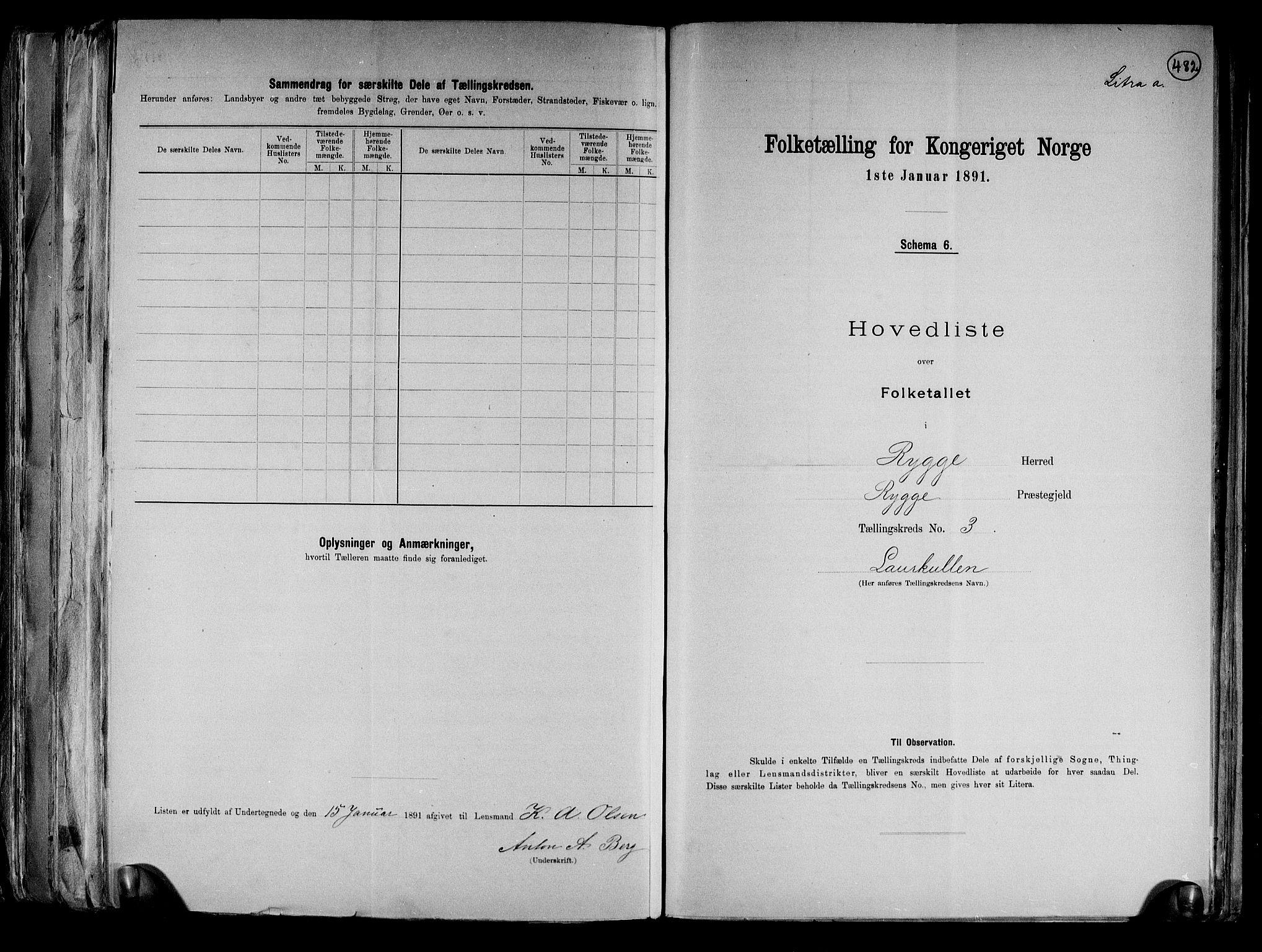 RA, Folketelling 1891 for 0136 Rygge herred, 1891, s. 10
