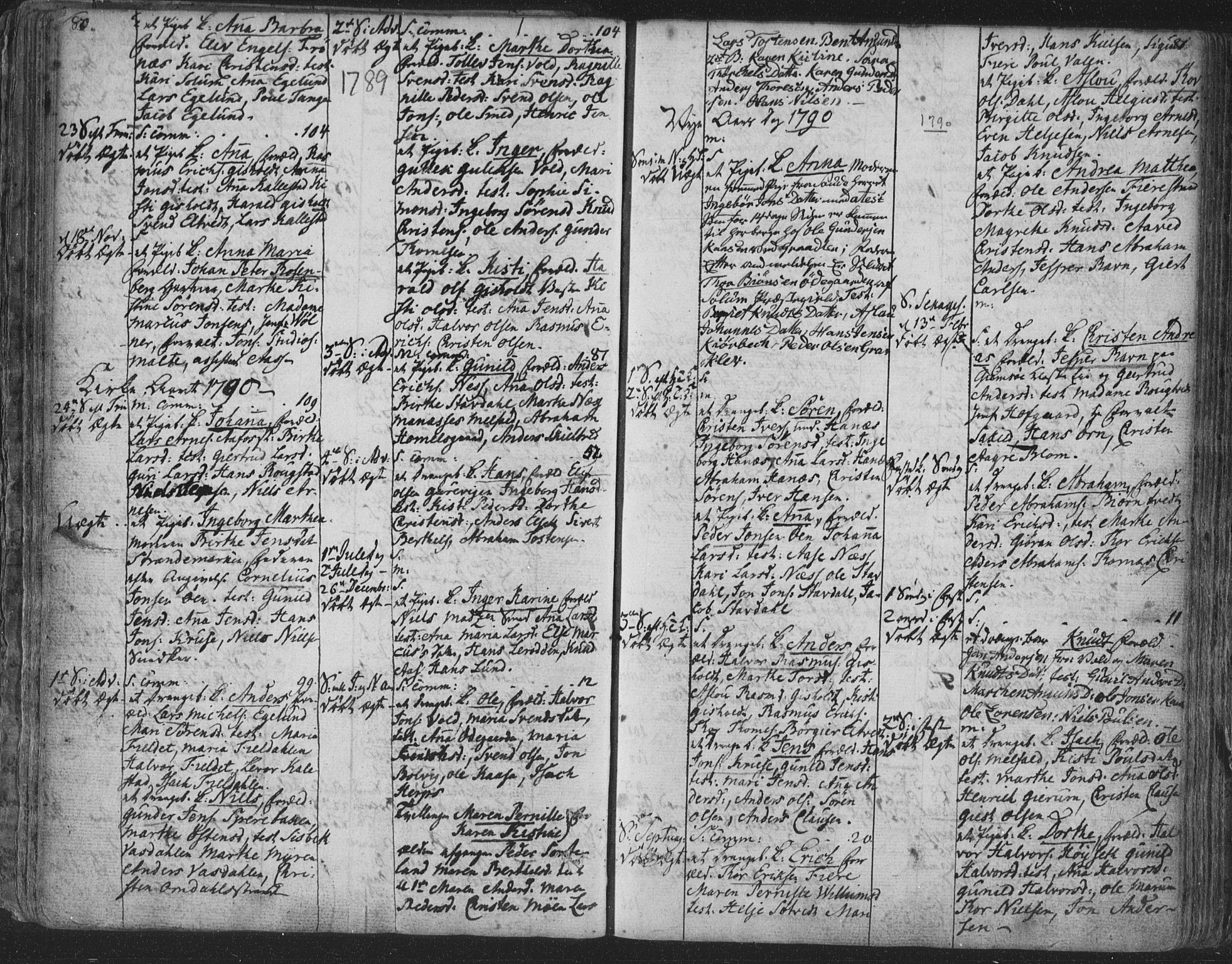 SAKO, Solum kirkebøker, F/Fa/L0003: Ministerialbok nr. I 3, 1761-1814, s. 80-81