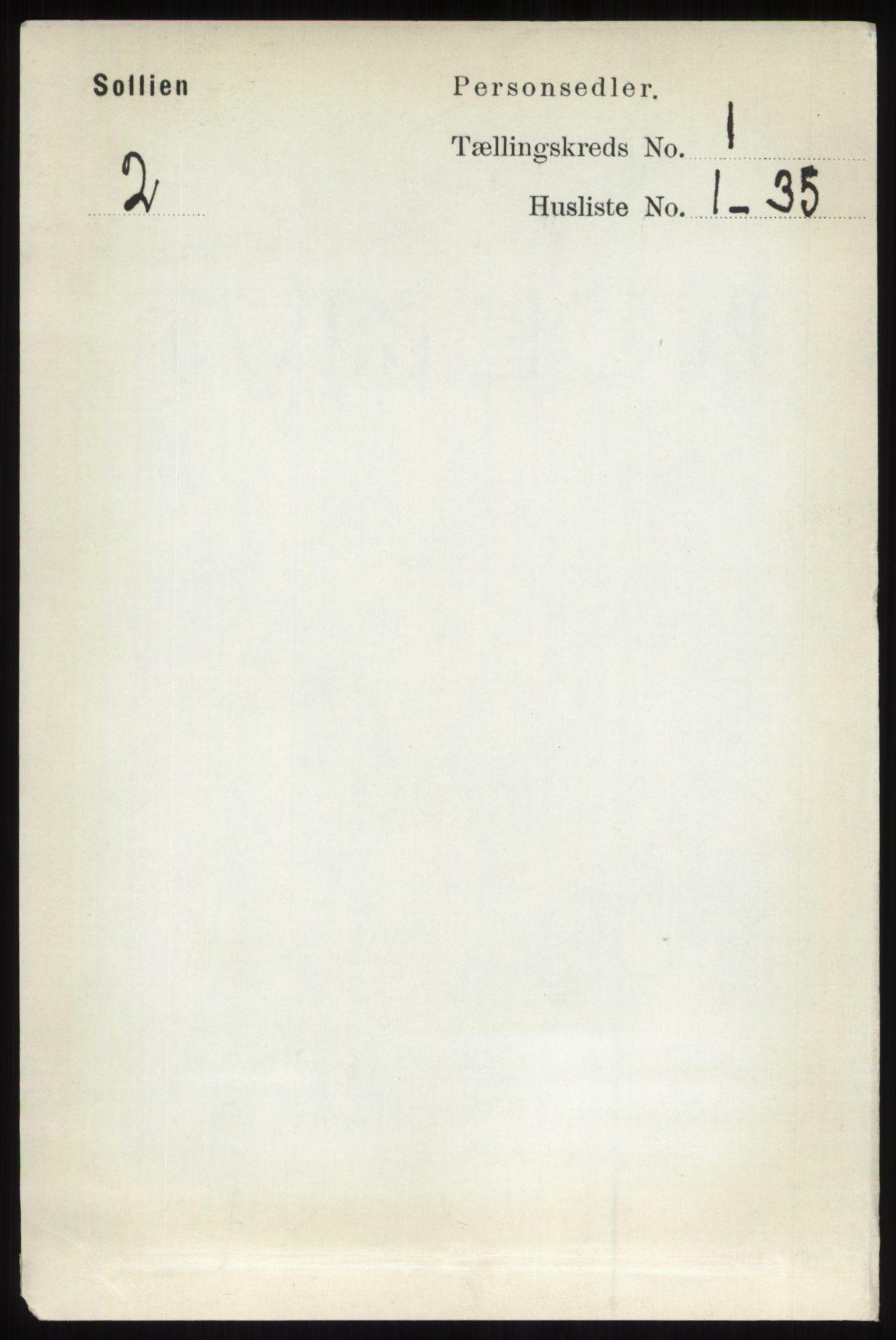 RA, Folketelling 1891 for 0431 Sollia herred, 1891, s. 92