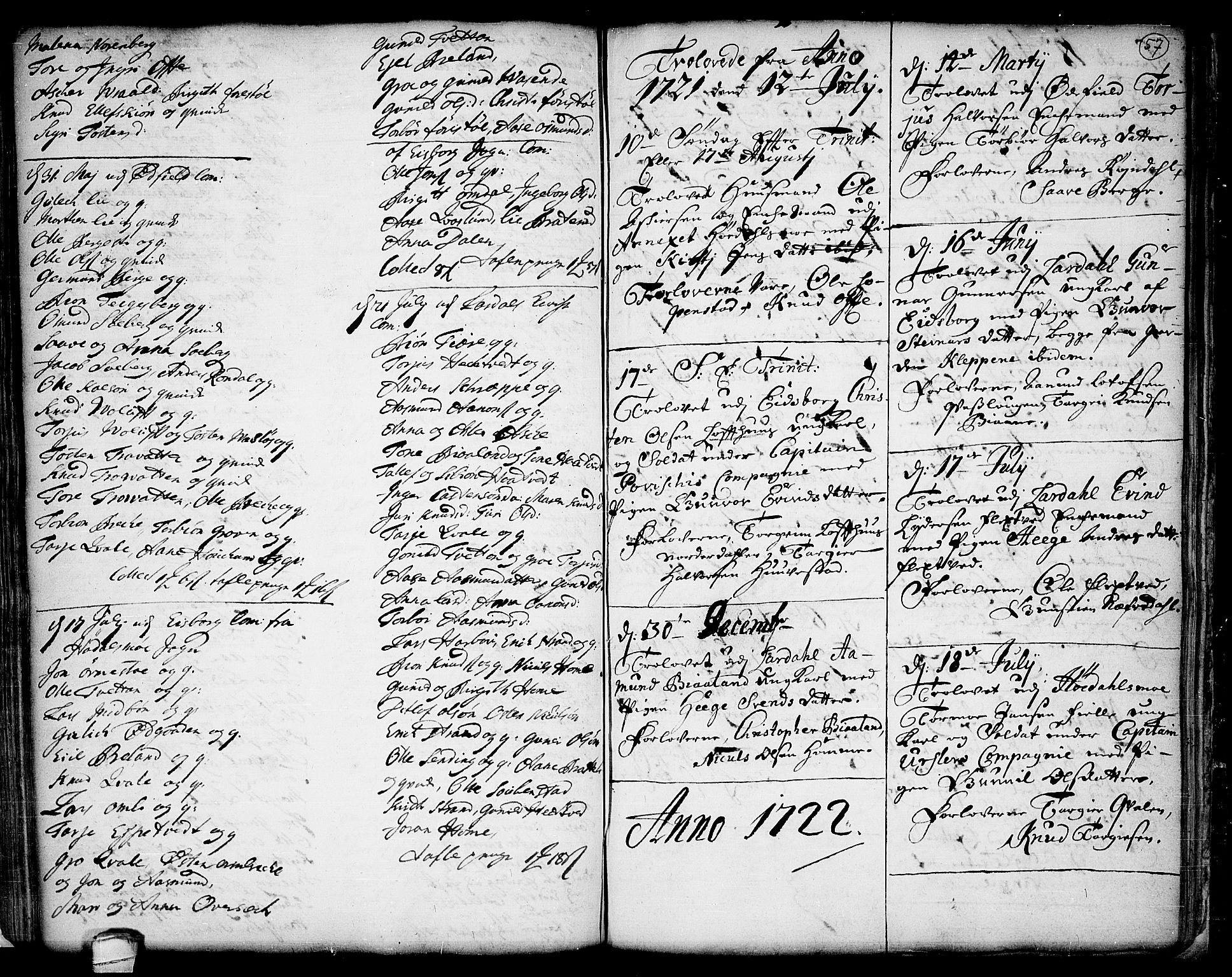 SAKO, Lårdal kirkebøker, F/Fa/L0001: Ministerialbok nr. I 1, 1721-1734, s. 57