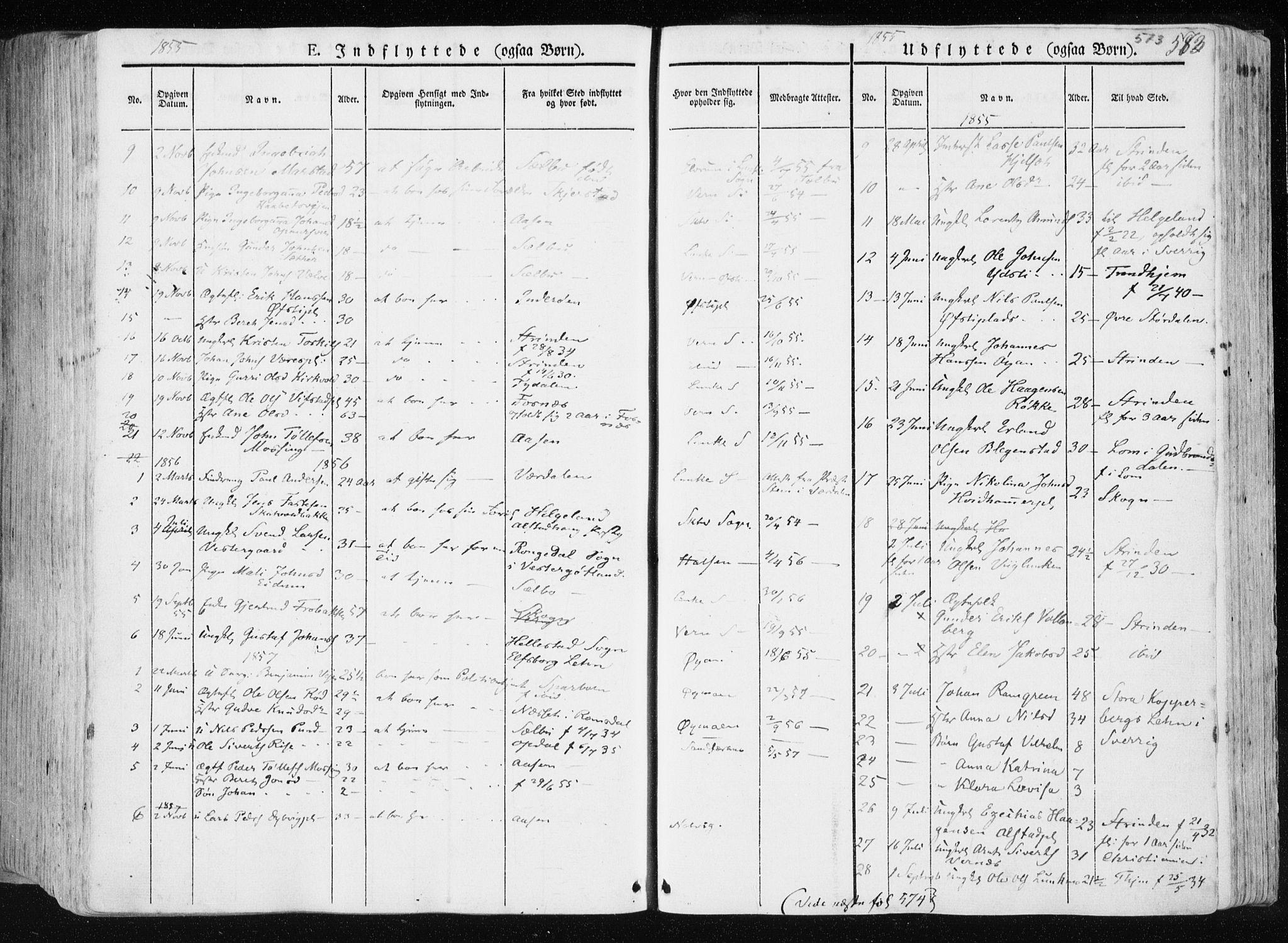 SAT, Ministerialprotokoller, klokkerbøker og fødselsregistre - Nord-Trøndelag, 709/L0074: Ministerialbok nr. 709A14, 1845-1858, s. 573