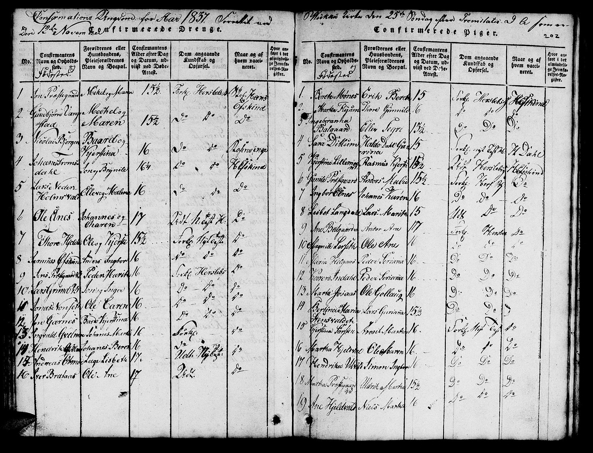 SAT, Ministerialprotokoller, klokkerbøker og fødselsregistre - Nord-Trøndelag, 724/L0265: Klokkerbok nr. 724C01, 1816-1845, s. 202