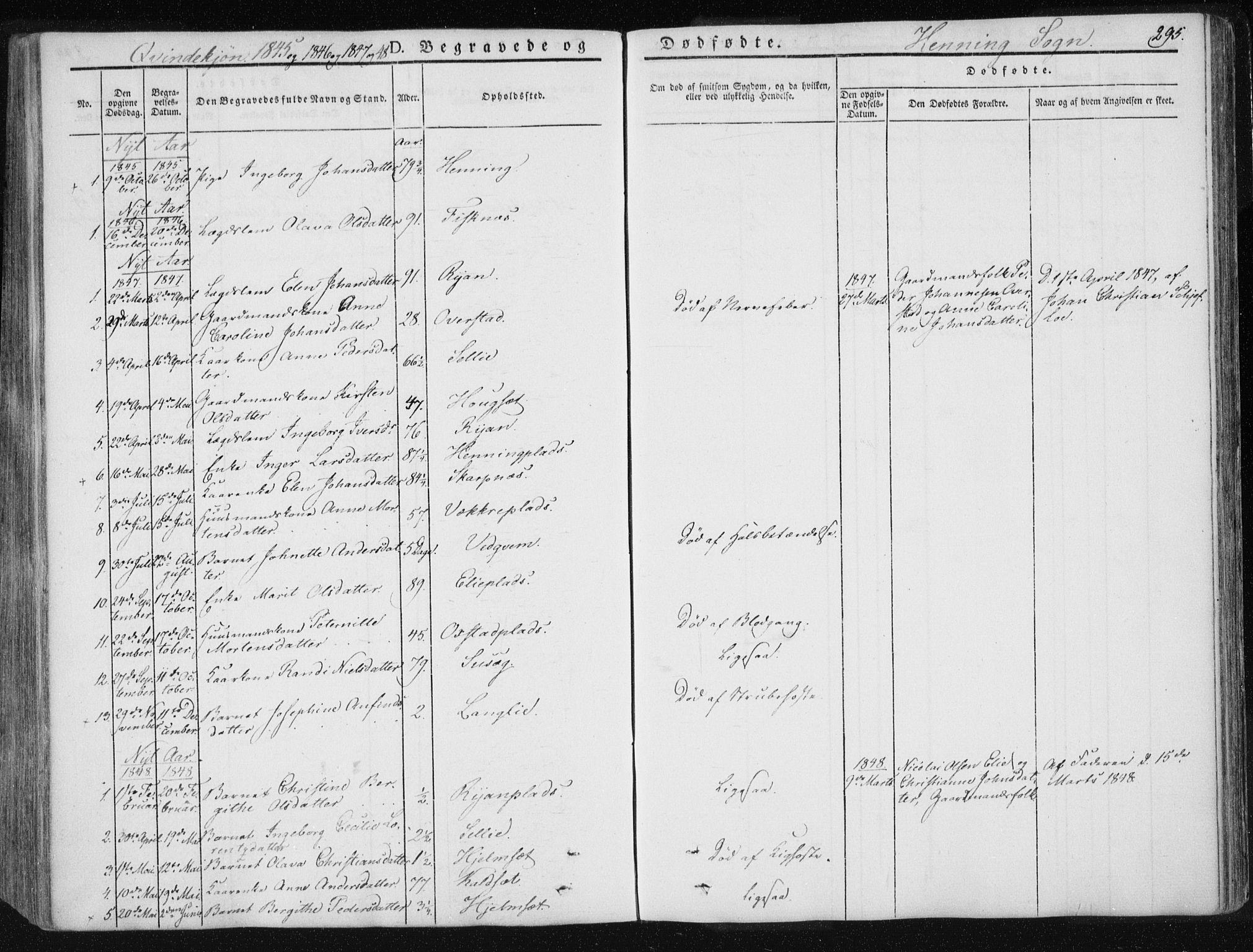 SAT, Ministerialprotokoller, klokkerbøker og fødselsregistre - Nord-Trøndelag, 735/L0339: Ministerialbok nr. 735A06 /3, 1836-1848, s. 295