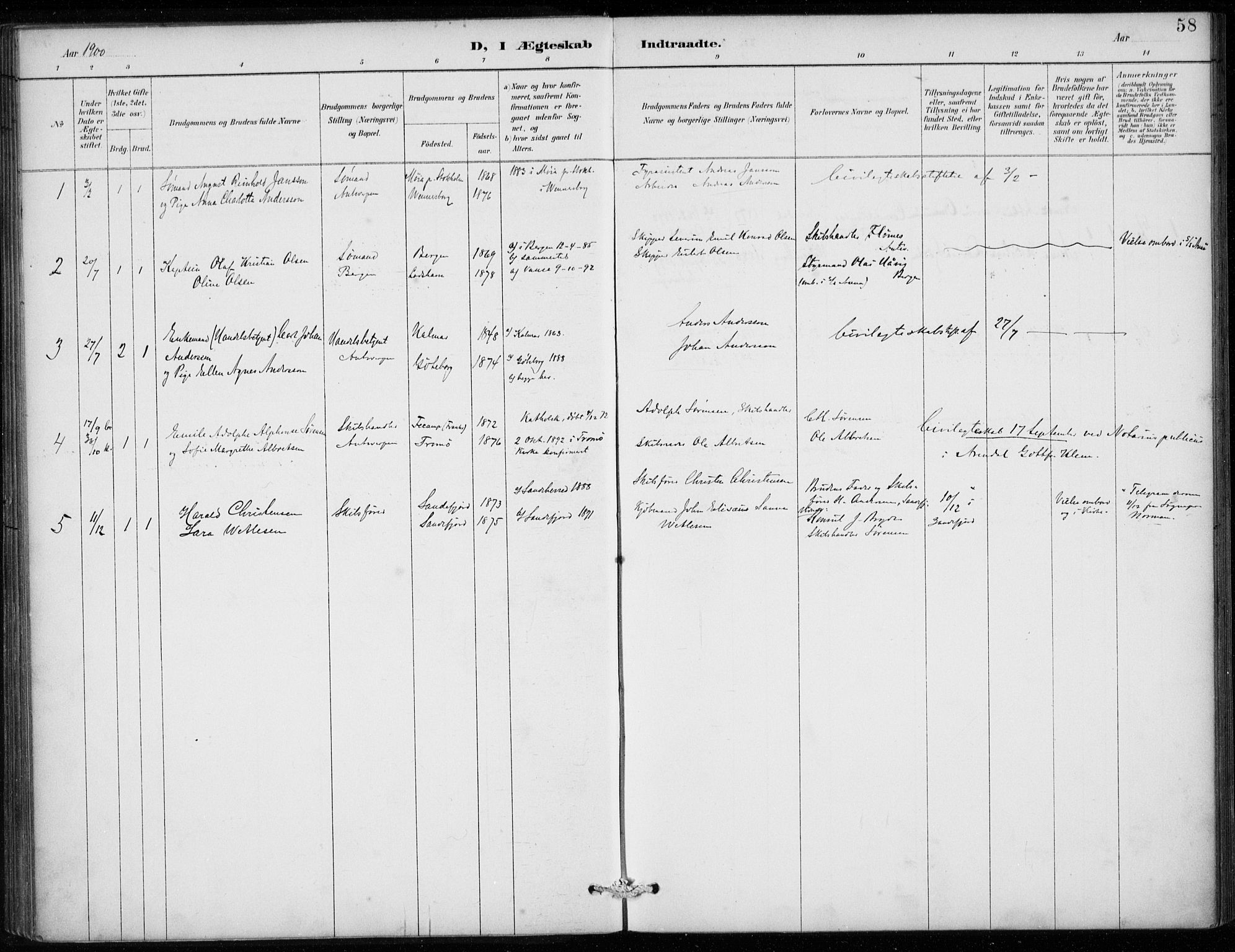 SAB, Den Norske Sjømannsmisjon i utlandet*, Ministerialbok nr. A 2, 1887-1913, s. 58
