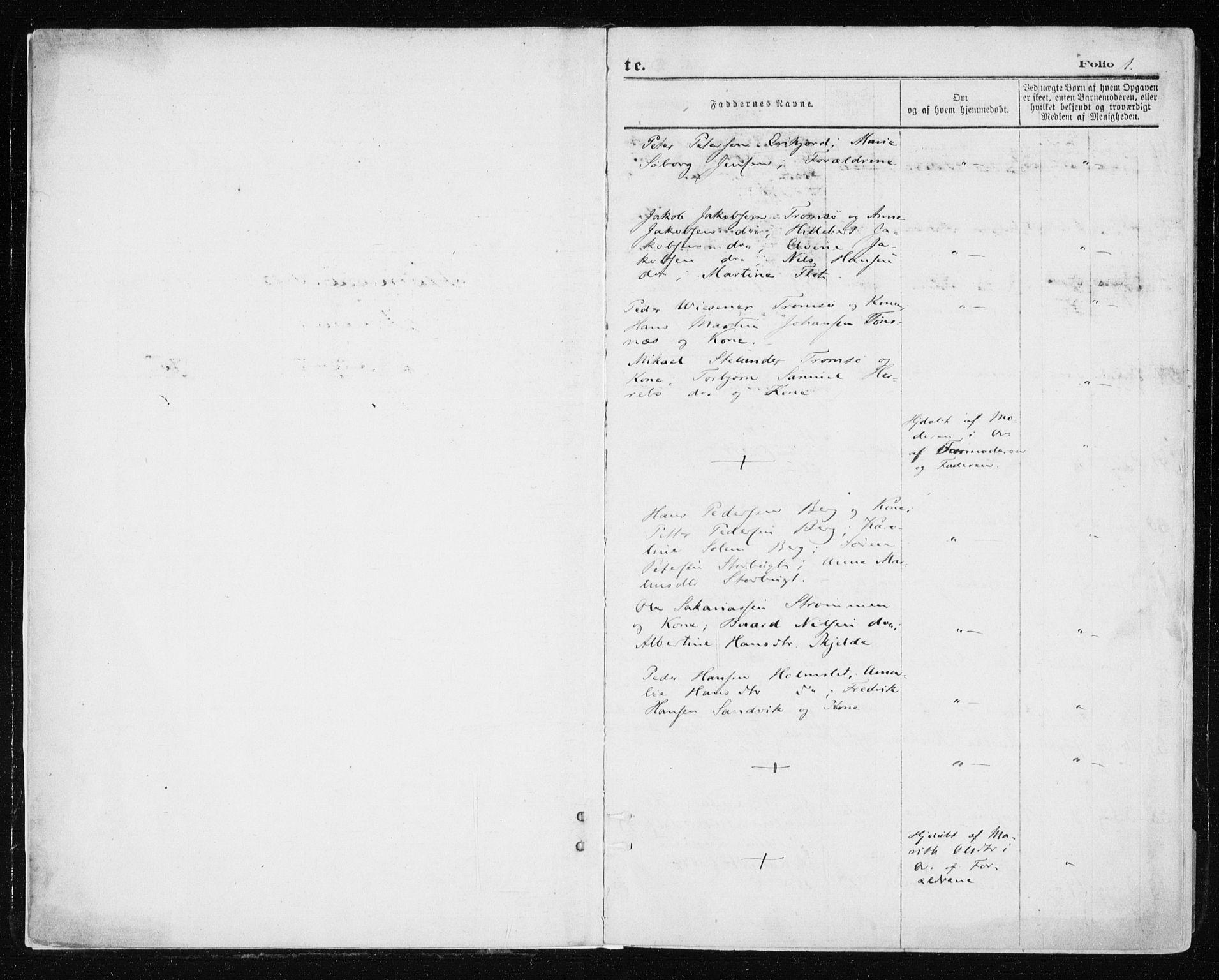 SATØ, Tromsøysund sokneprestkontor, G/Ga/L0003kirke: Ministerialbok nr. 3, 1875-1880, s. 1