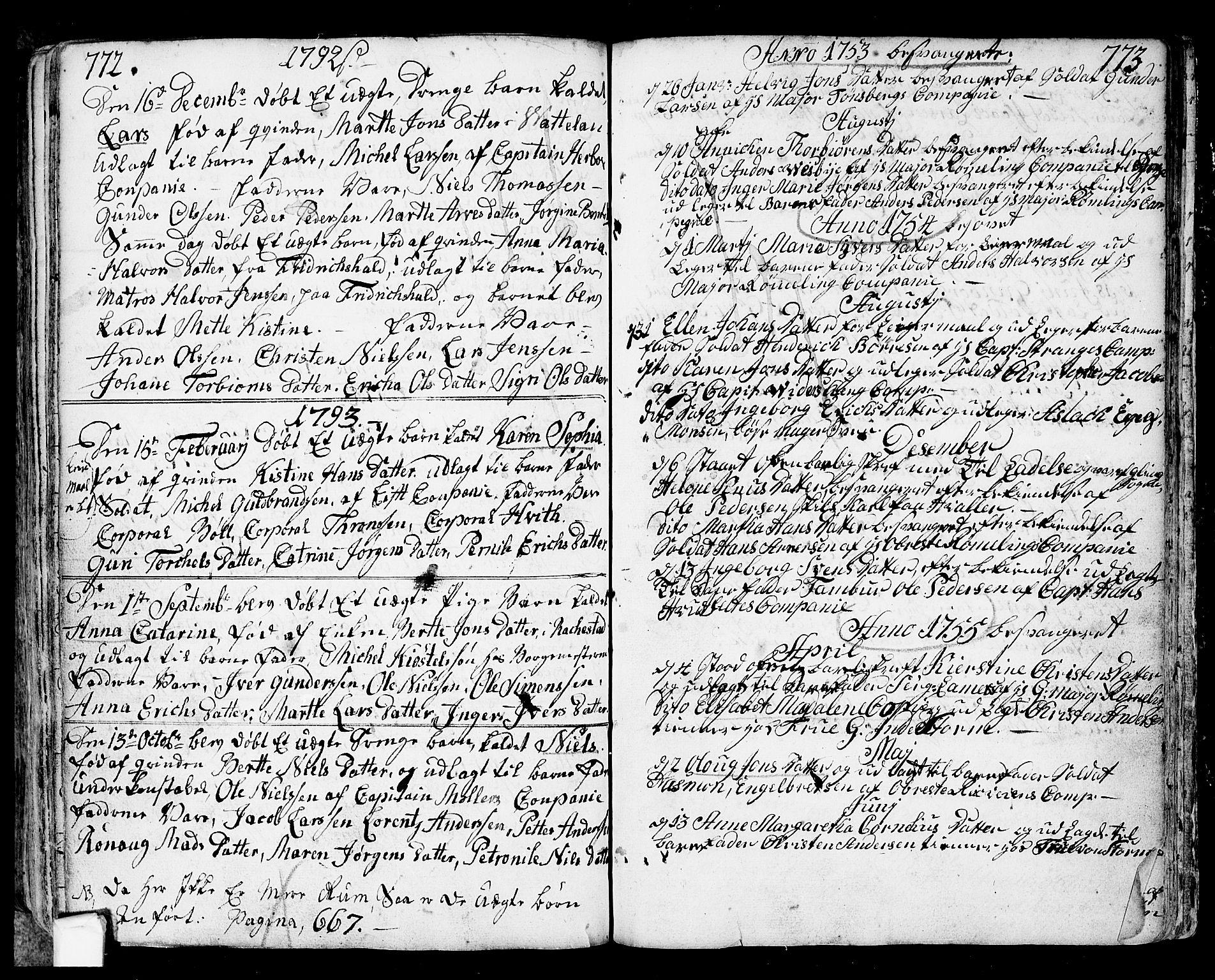 SAO, Fredrikstad prestekontor Kirkebøker, F/Fa/L0002: Ministerialbok nr. 2, 1750-1804, s. 772-773