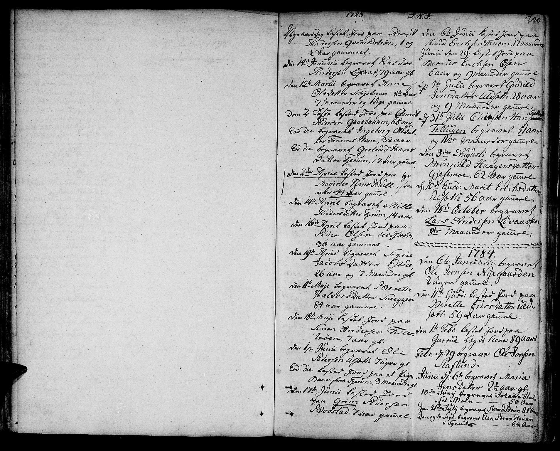 SAT, Ministerialprotokoller, klokkerbøker og fødselsregistre - Sør-Trøndelag, 618/L0438: Ministerialbok nr. 618A03, 1783-1815, s. 220
