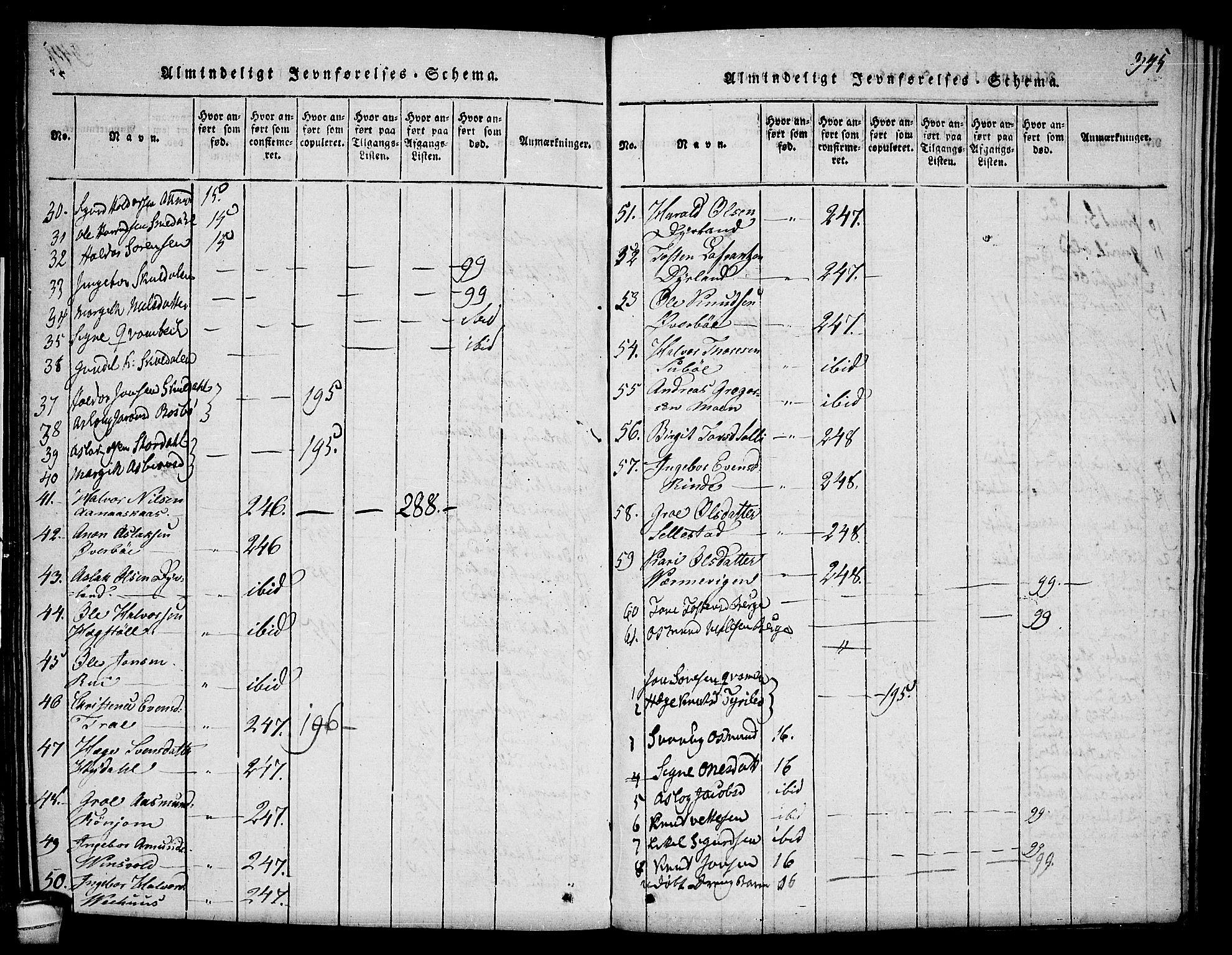 SAKO, Seljord kirkebøker, F/Fc/L0001: Ministerialbok nr. III 1, 1815-1831, s. 345