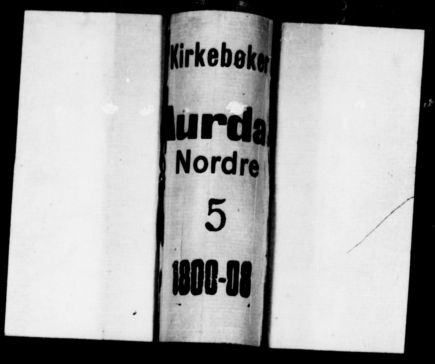 SAH, Aurdal prestekontor, Ministerialbok nr. 7, 1800-1808