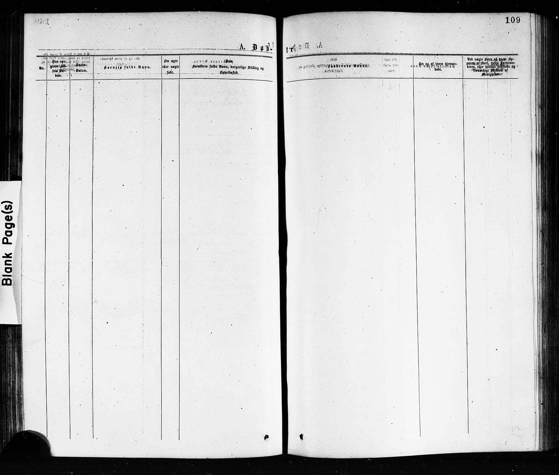 SAKO, Porsgrunn kirkebøker , G/Ga/L0003: Klokkerbok nr. I 3, 1877-1915, s. 109