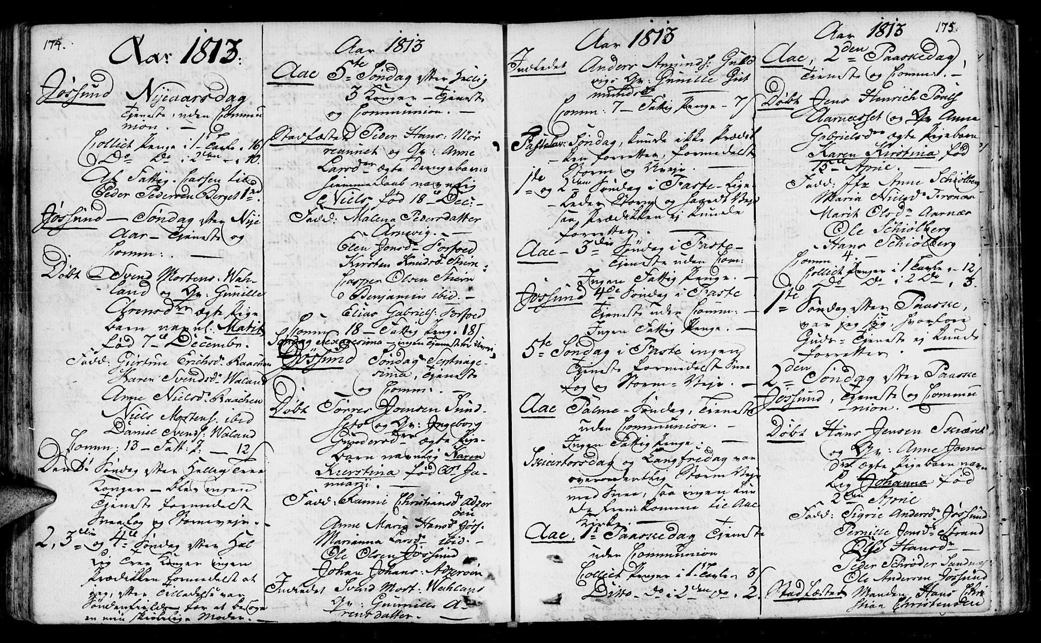 SAT, Ministerialprotokoller, klokkerbøker og fødselsregistre - Sør-Trøndelag, 655/L0674: Ministerialbok nr. 655A03, 1802-1826, s. 174-175