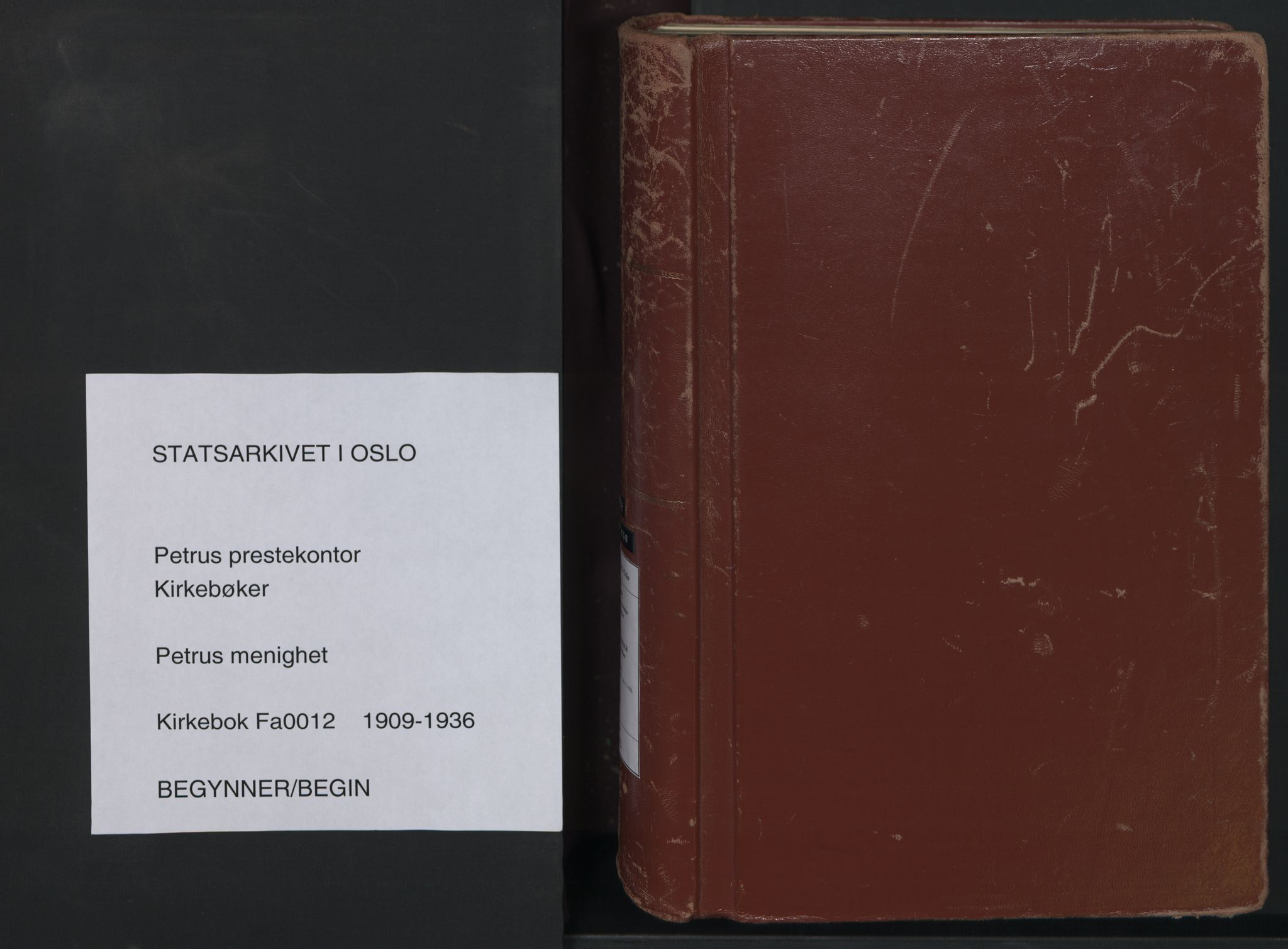 SAO, Petrus prestekontor Kirkebøker, F/Fa/L0012: Ministerialbok nr. 12, 1909-1936