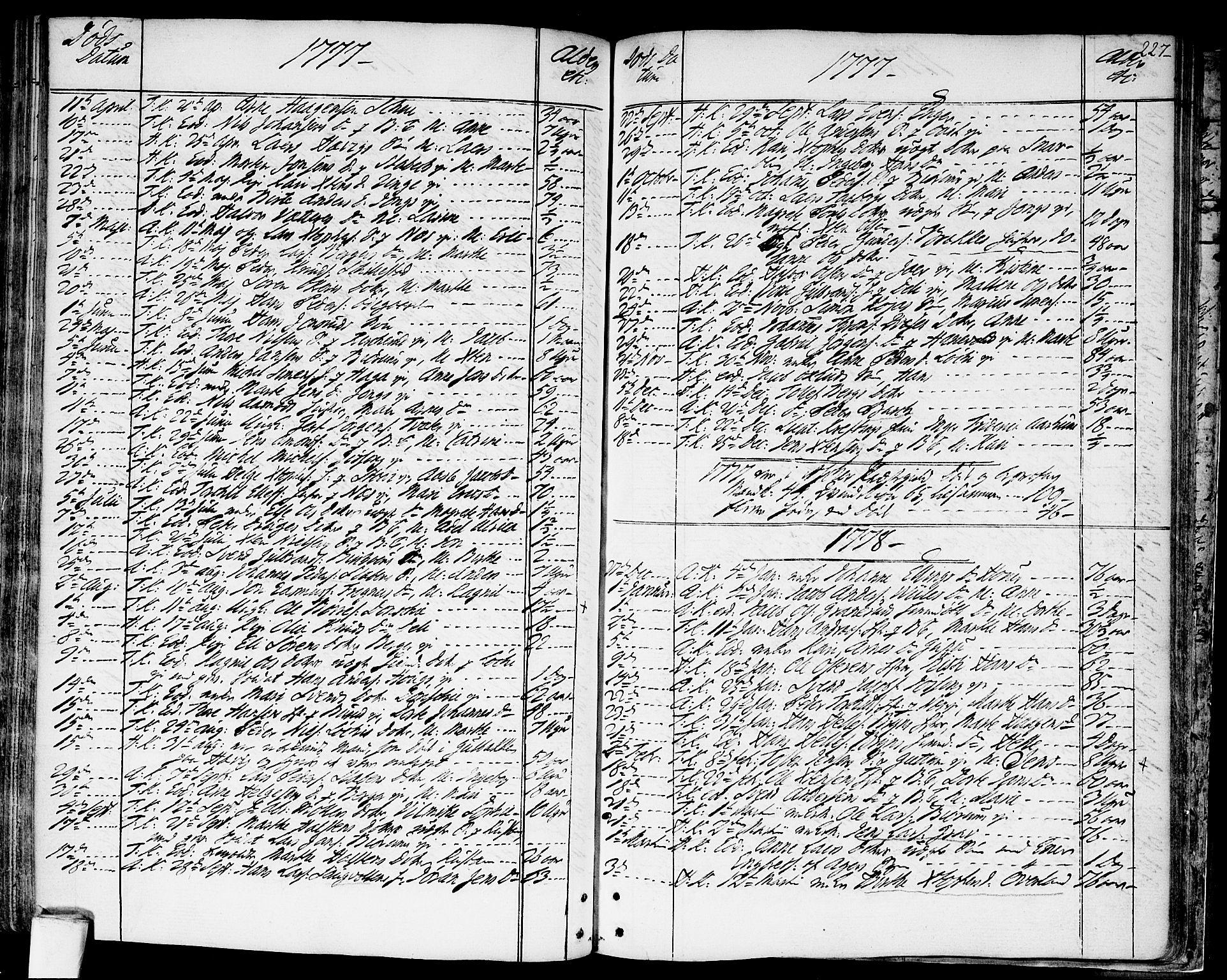SAO, Asker prestekontor Kirkebøker, F/Fa/L0003: Ministerialbok nr. I 3, 1767-1807, s. 227