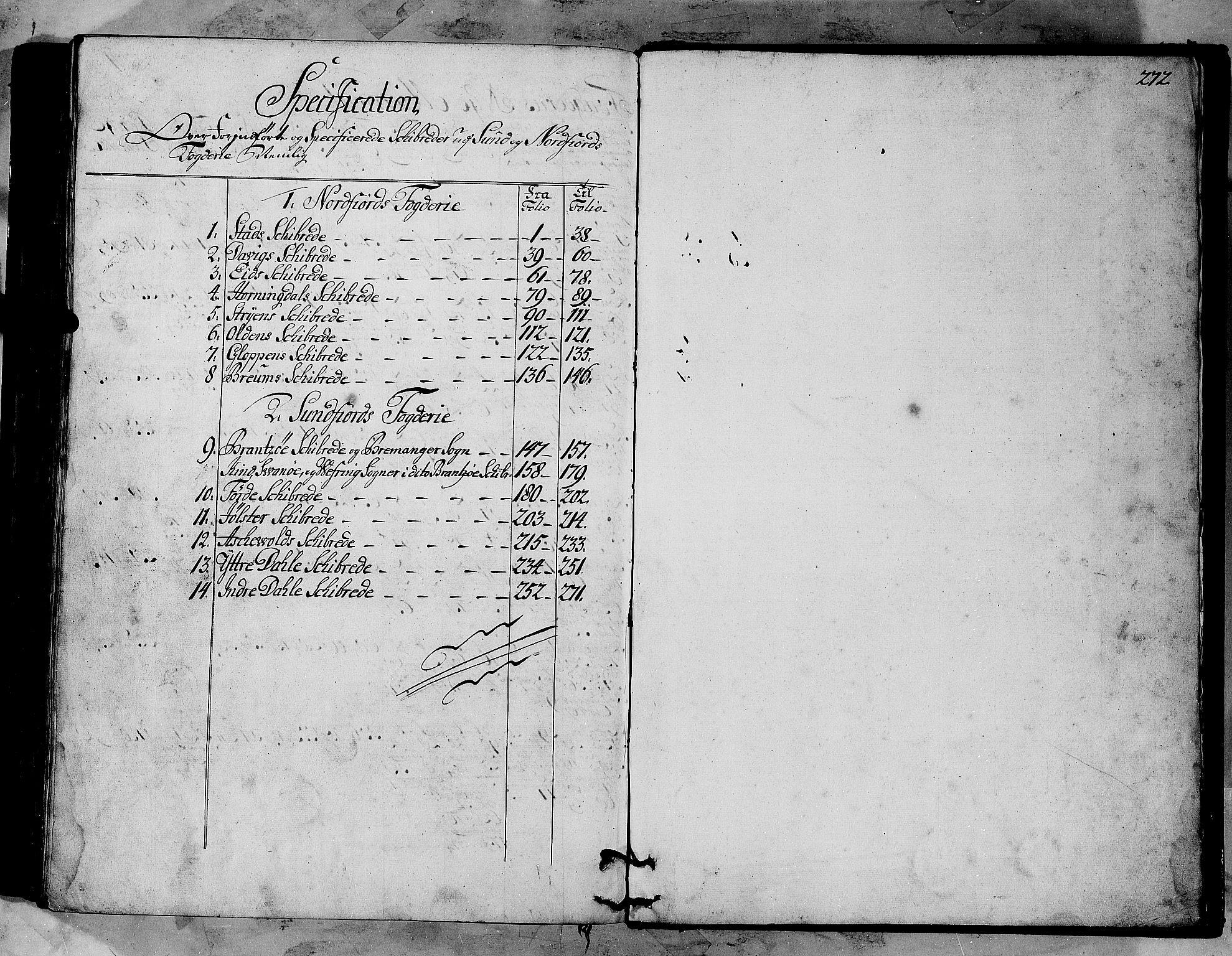 RA, Rentekammeret inntil 1814, Realistisk ordnet avdeling, N/Nb/Nbf/L0147: Sunnfjord og Nordfjord matrikkelprotokoll, 1723, s. 271b-272a