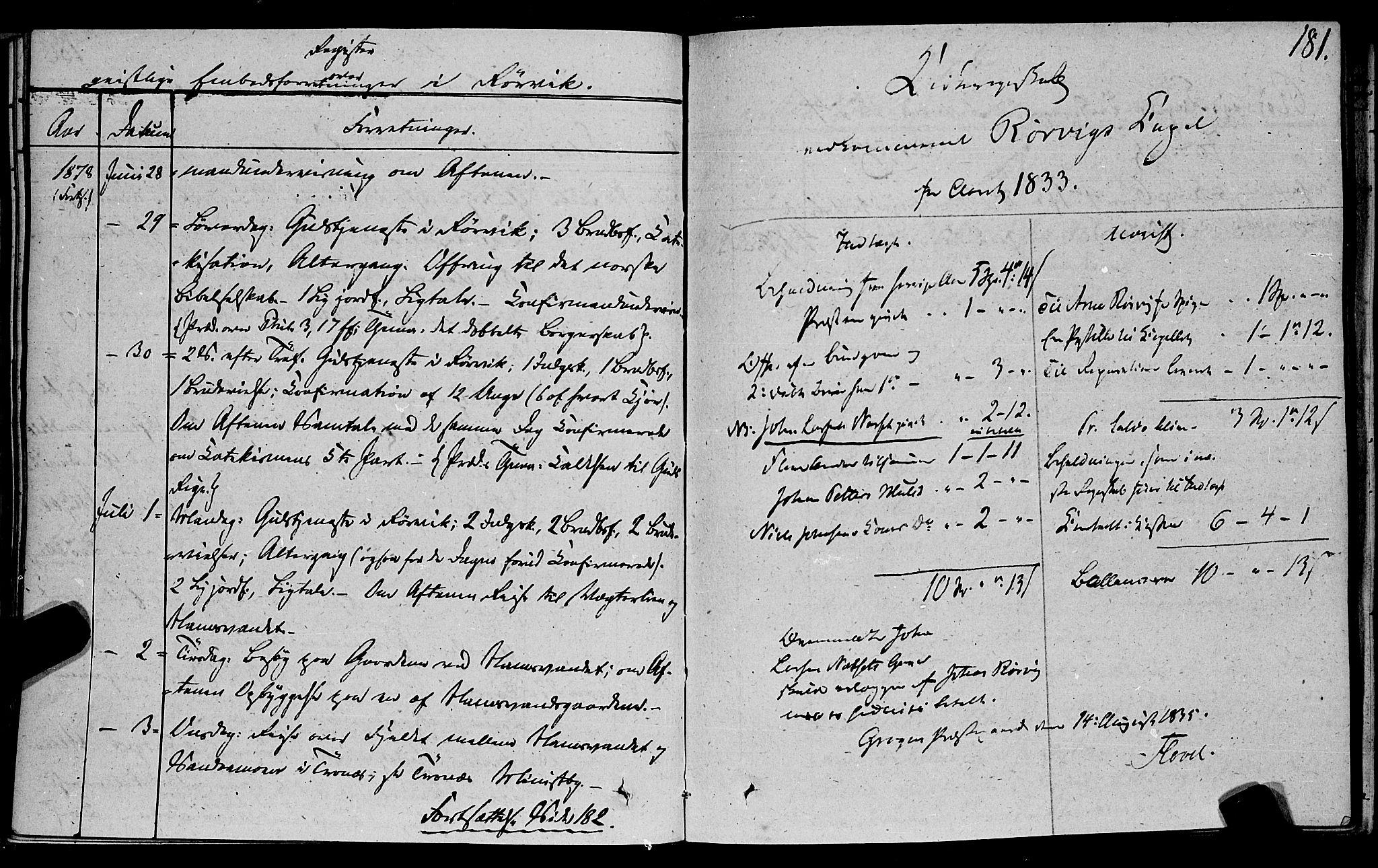 SAT, Ministerialprotokoller, klokkerbøker og fødselsregistre - Nord-Trøndelag, 762/L0538: Ministerialbok nr. 762A02 /1, 1833-1879, s. 181