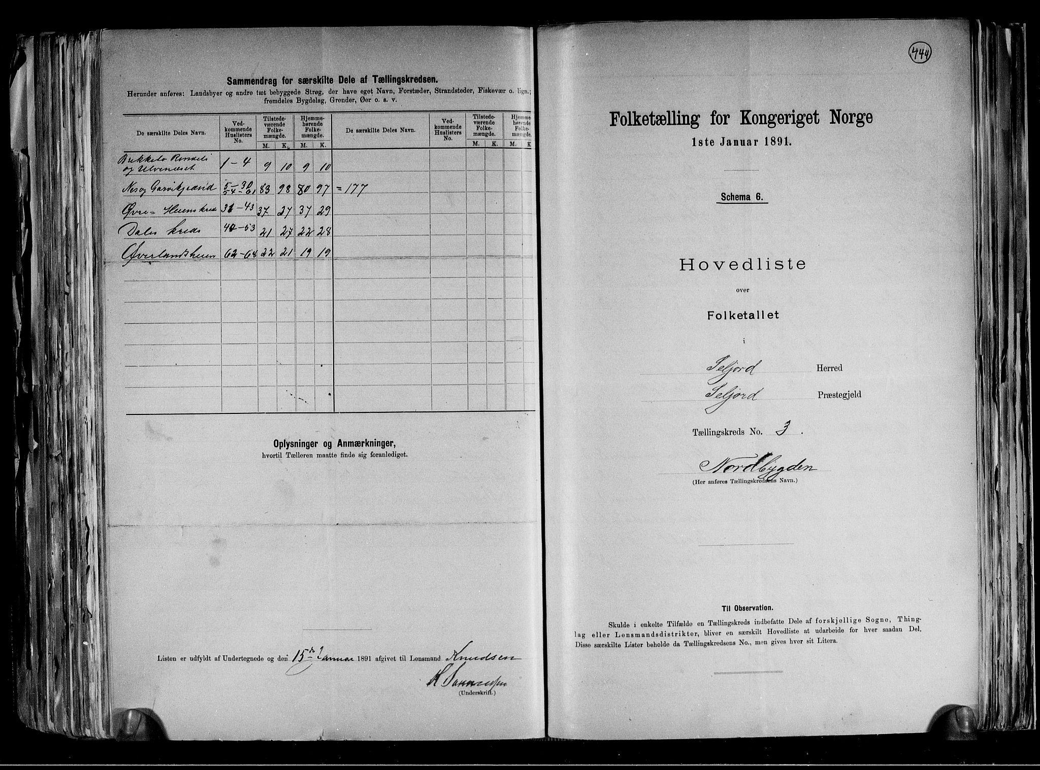 RA, Folketelling 1891 for 0828 Seljord herred, 1891, s. 8