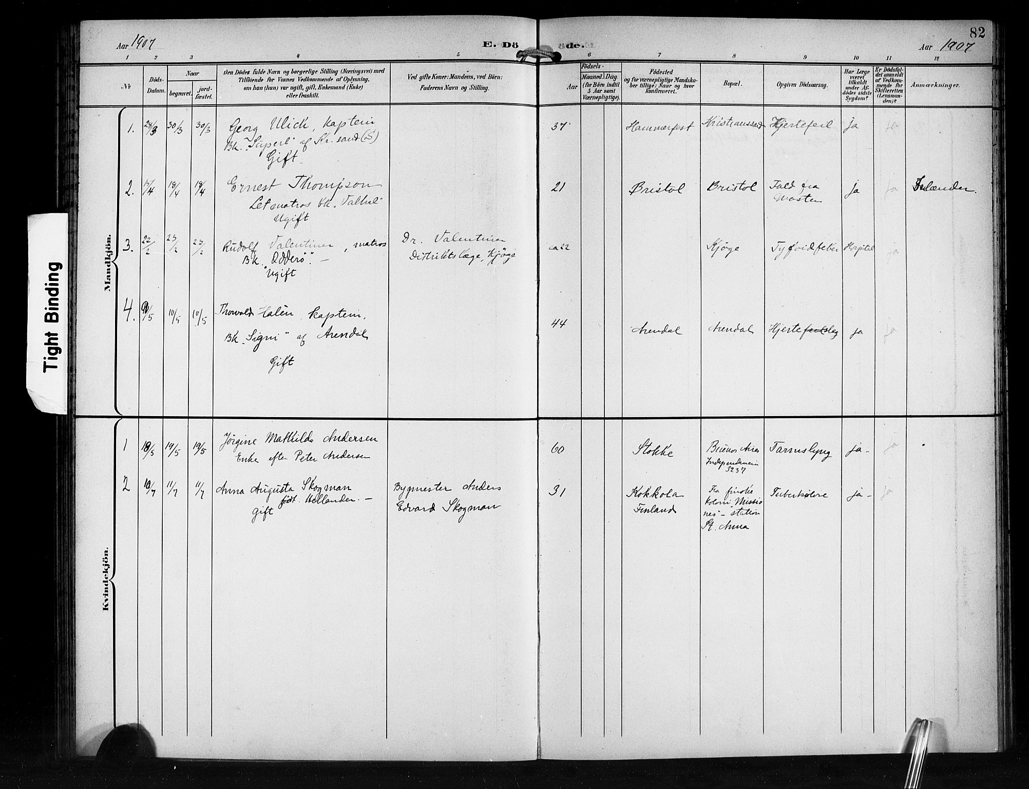 SAB, Den Norske Sjømannsmisjon i utlandet*, Ministerialbok nr. A 2, 1899-1919, s. 82