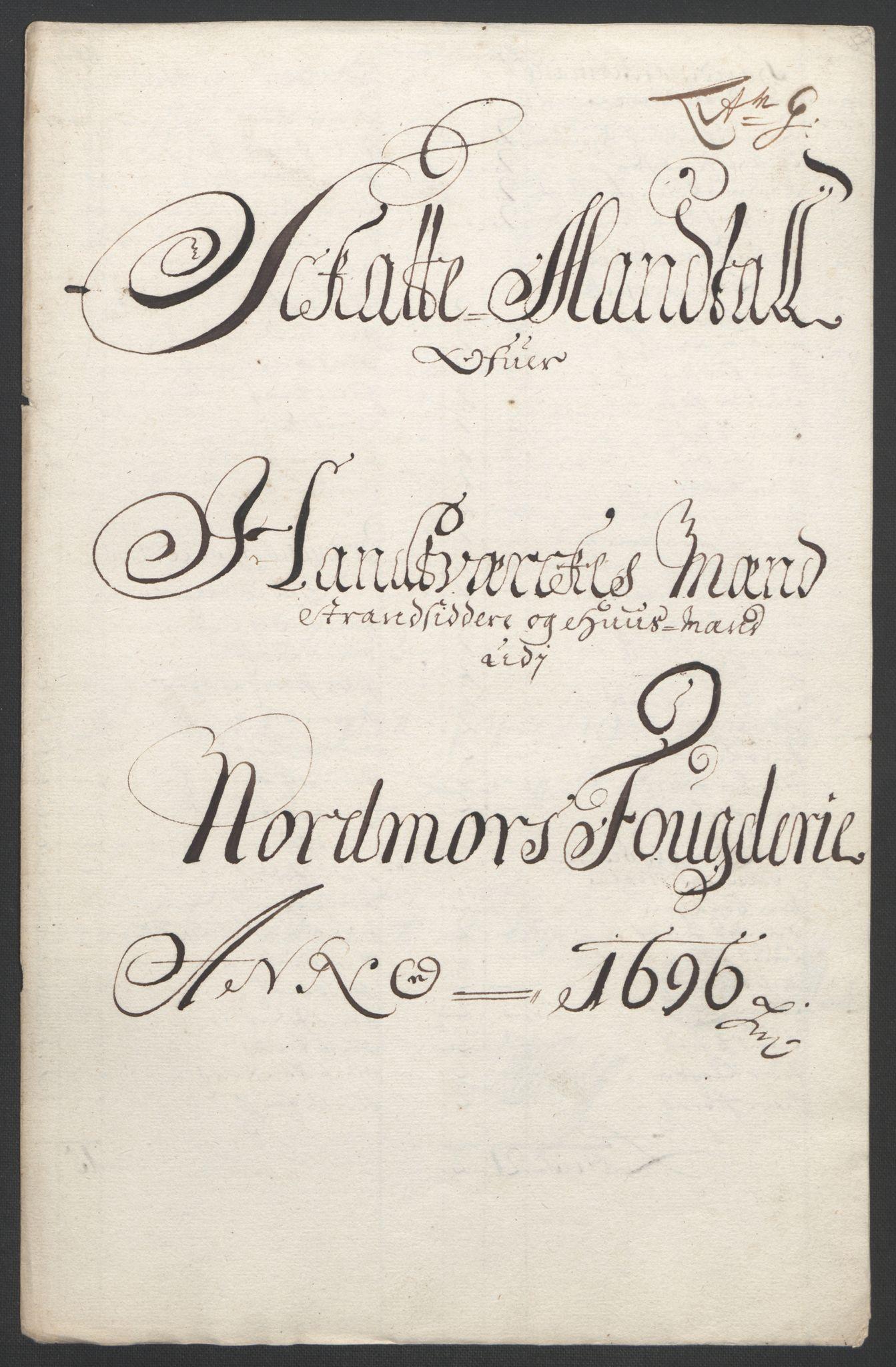 RA, Rentekammeret inntil 1814, Reviderte regnskaper, Fogderegnskap, R56/L3736: Fogderegnskap Nordmøre, 1694-1696, s. 424