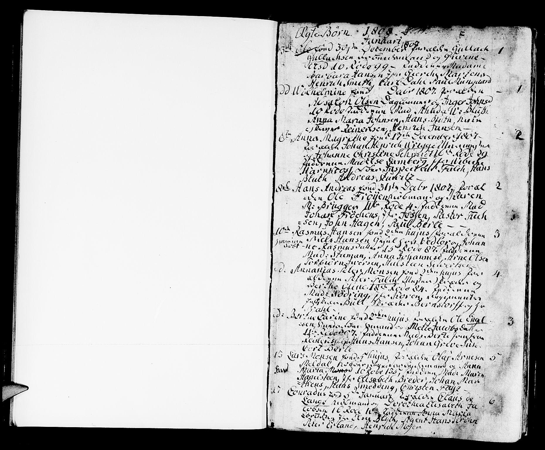 SAB, Domkirken Sokneprestembete, H/Haa/L0005: Ministerialbok nr. A 5, 1808-1820, s. 0-1
