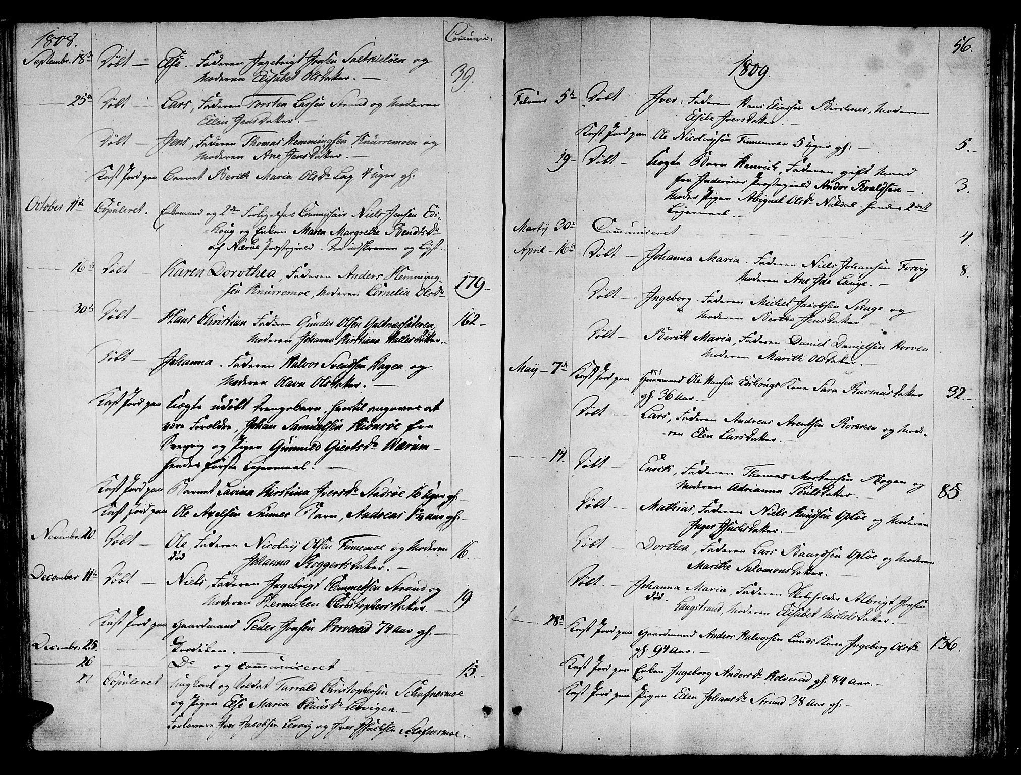 SAT, Ministerialprotokoller, klokkerbøker og fødselsregistre - Nord-Trøndelag, 780/L0633: Ministerialbok nr. 780A02 /1, 1787-1814, s. 56