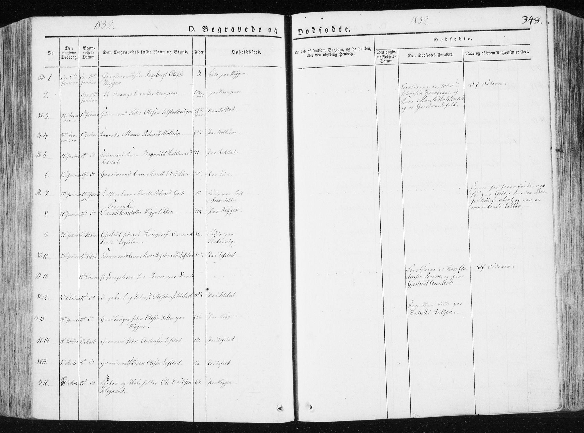 SAT, Ministerialprotokoller, klokkerbøker og fødselsregistre - Sør-Trøndelag, 665/L0771: Ministerialbok nr. 665A06, 1830-1856, s. 348