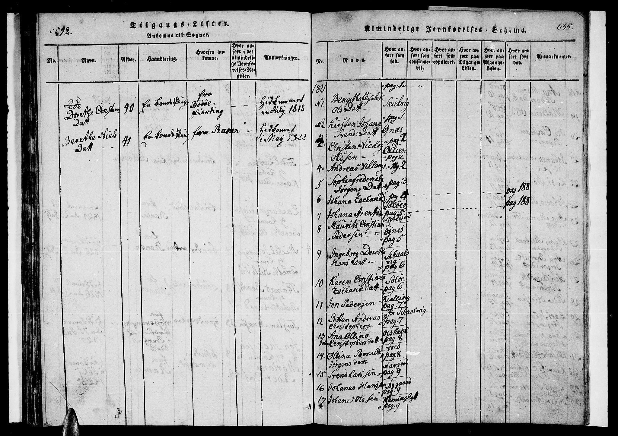 SAT, Ministerialprotokoller, klokkerbøker og fødselsregistre - Nordland, 846/L0651: Klokkerbok nr. 846C01, 1821-1841, s. 598-599