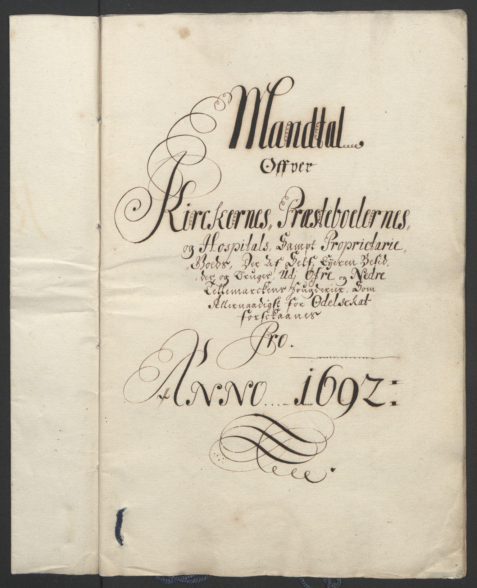 RA, Rentekammeret inntil 1814, Reviderte regnskaper, Fogderegnskap, R35/L2091: Fogderegnskap Øvre og Nedre Telemark, 1690-1693, s. 178