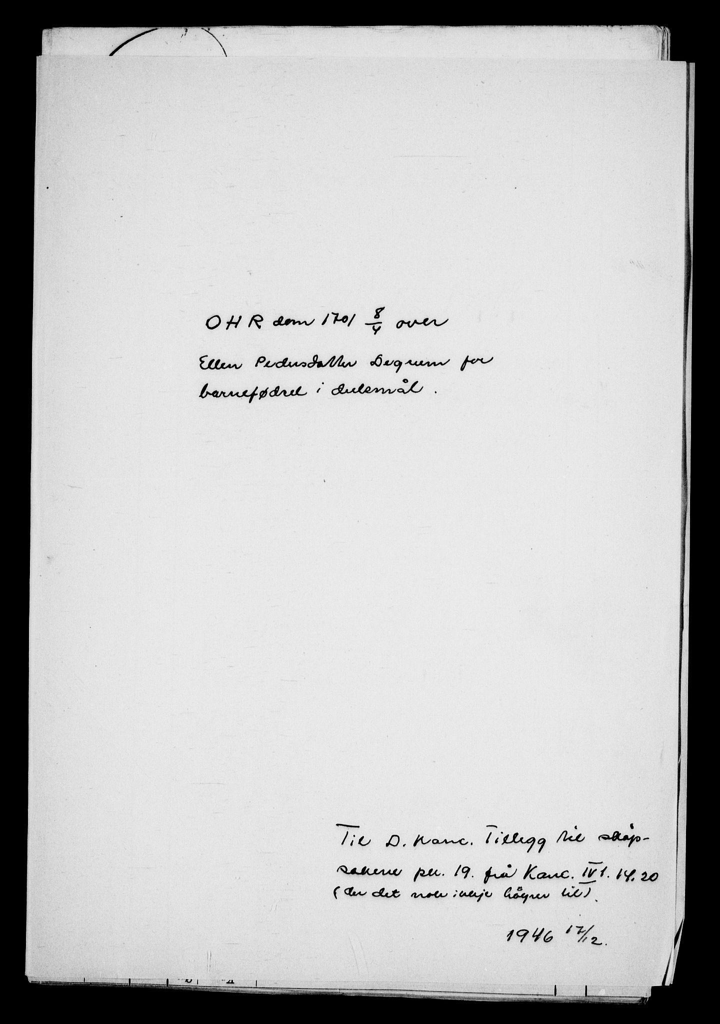 RA, Danske Kanselli, Skapsaker, G/L0019: Tillegg til skapsakene, 1616-1753, s. 307