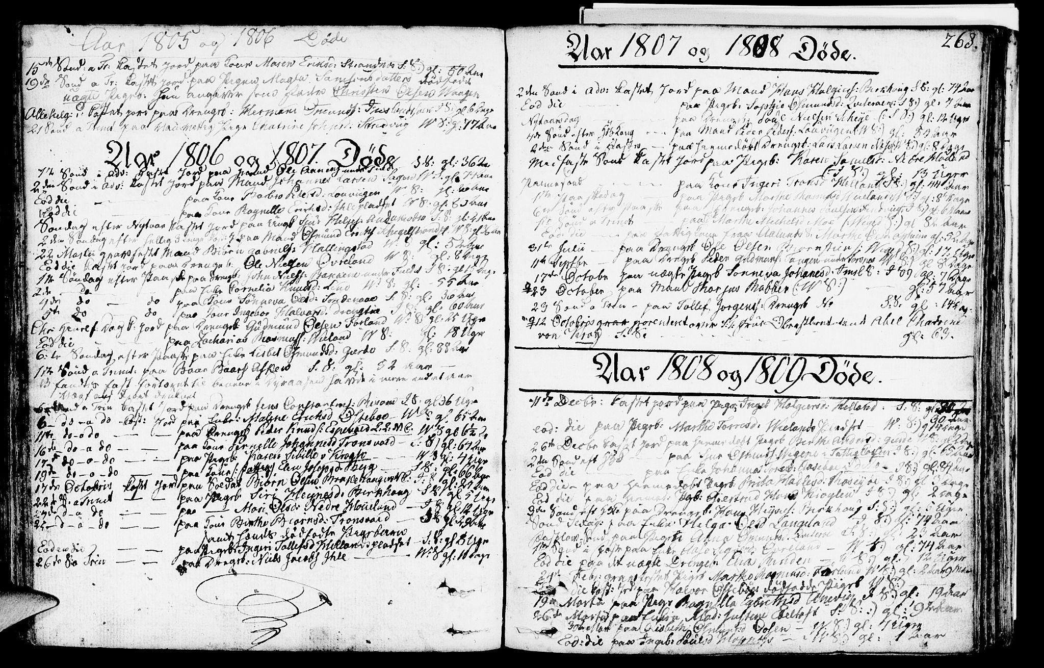 SAST, Vikedal sokneprestkontor, IV: Ministerialbok nr. A 2, 1779-1817, s. 268