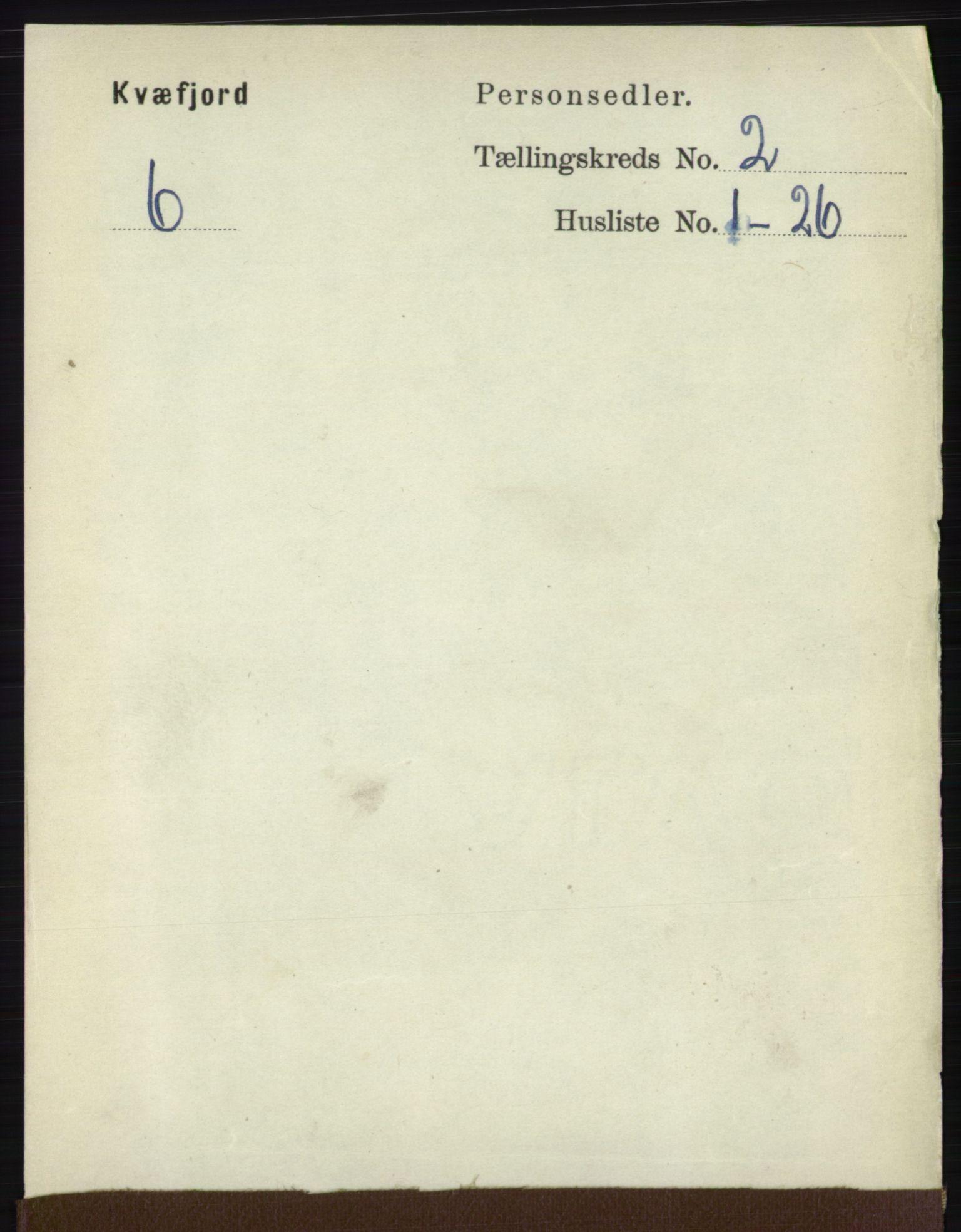 RA, Folketelling 1891 for 1911 Kvæfjord herred, 1891, s. 713