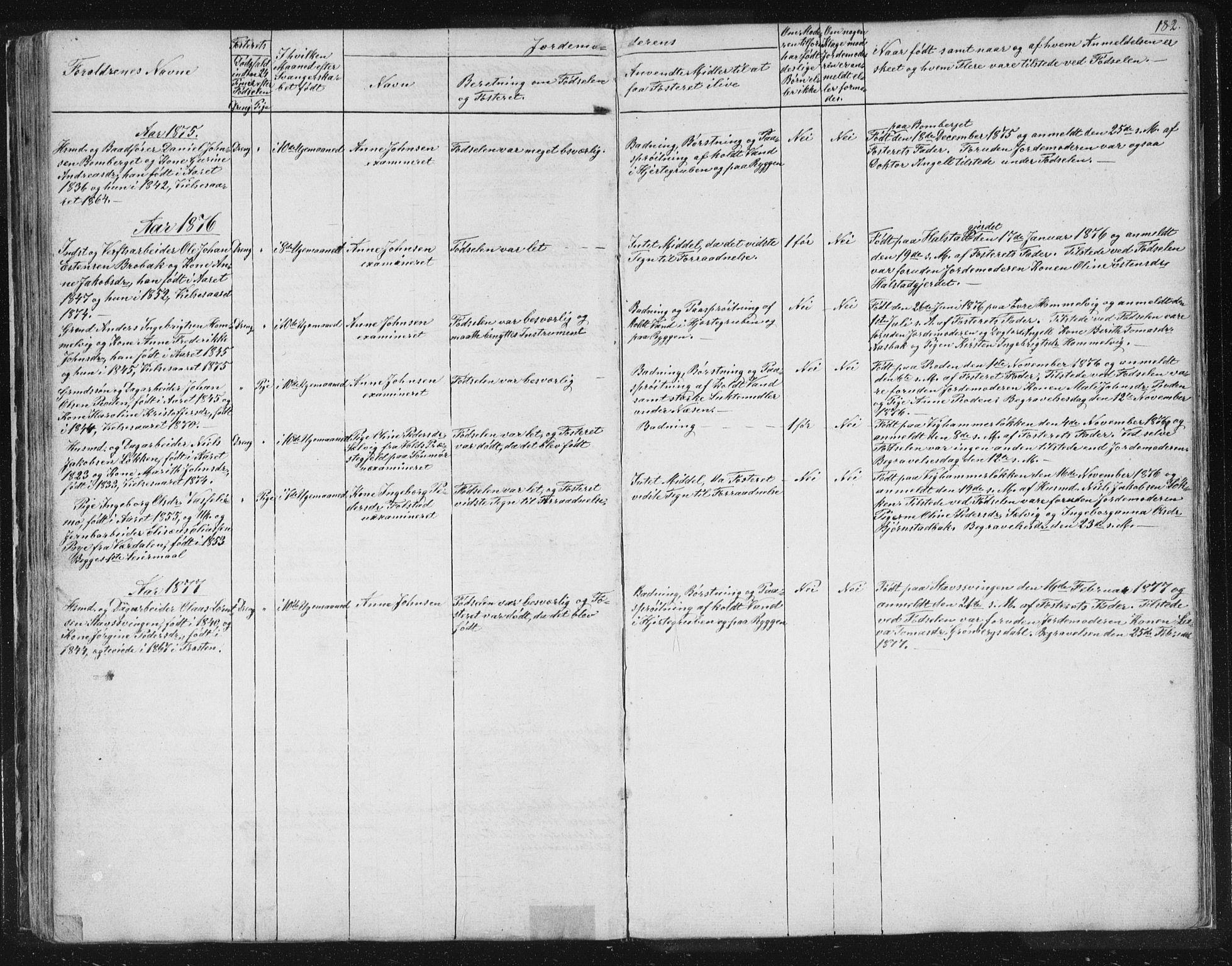 SAT, Ministerialprotokoller, klokkerbøker og fødselsregistre - Sør-Trøndelag, 616/L0406: Ministerialbok nr. 616A03, 1843-1879, s. 182