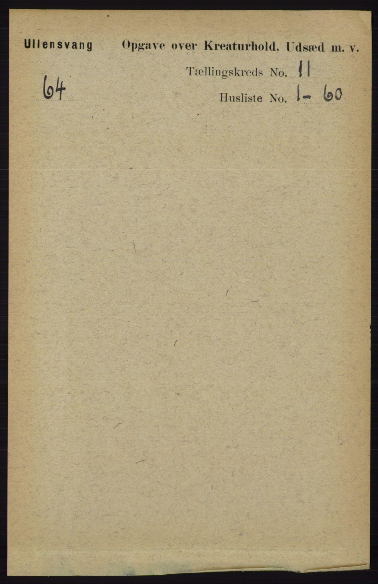 RA, Folketelling 1891 for 1230 Ullensvang herred, 1891, s. 7900