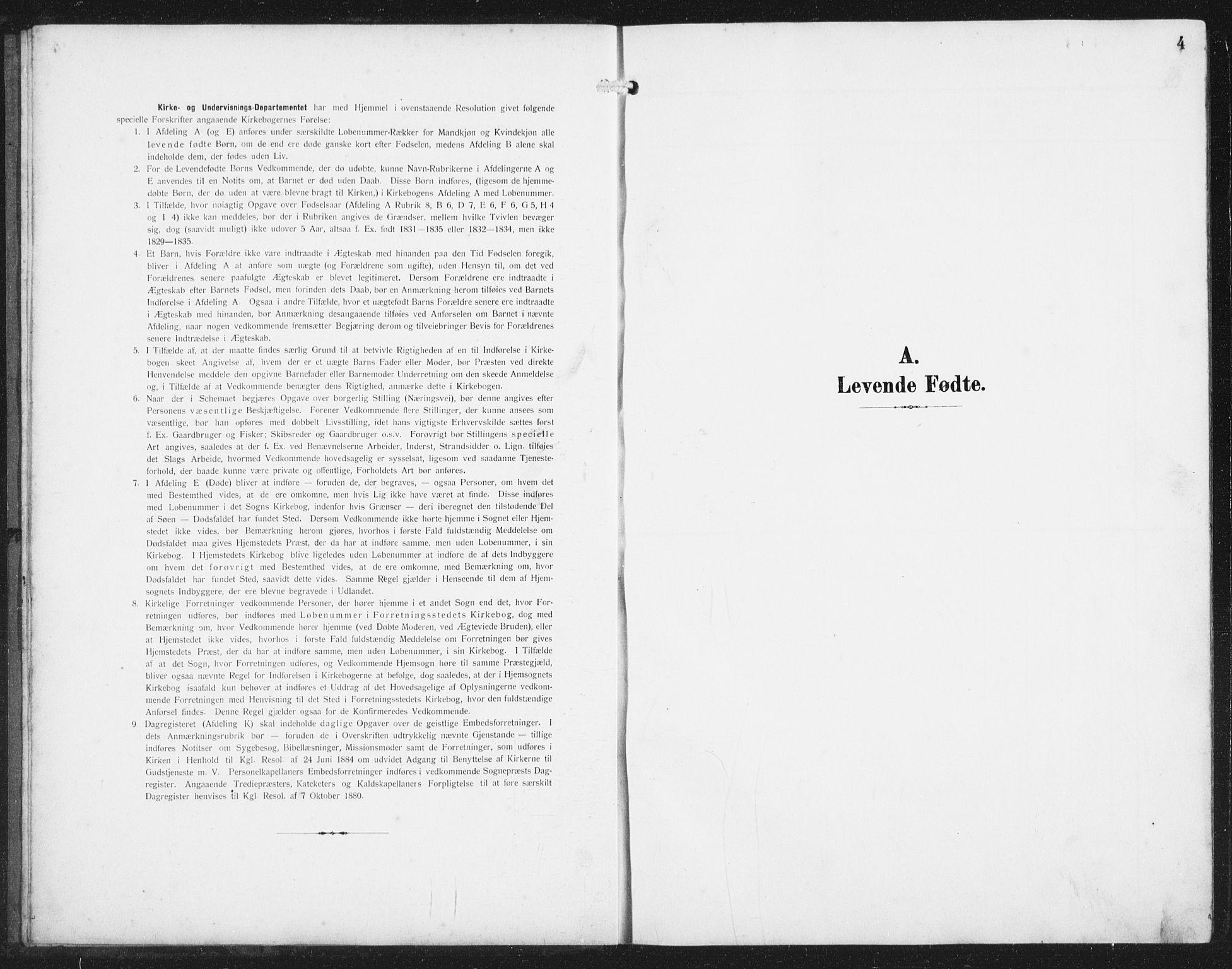 SAST, Skudenes sokneprestkontor, H/Ha/Hab/L0011: Klokkerbok nr. B 11, 1909-1943, s. 4
