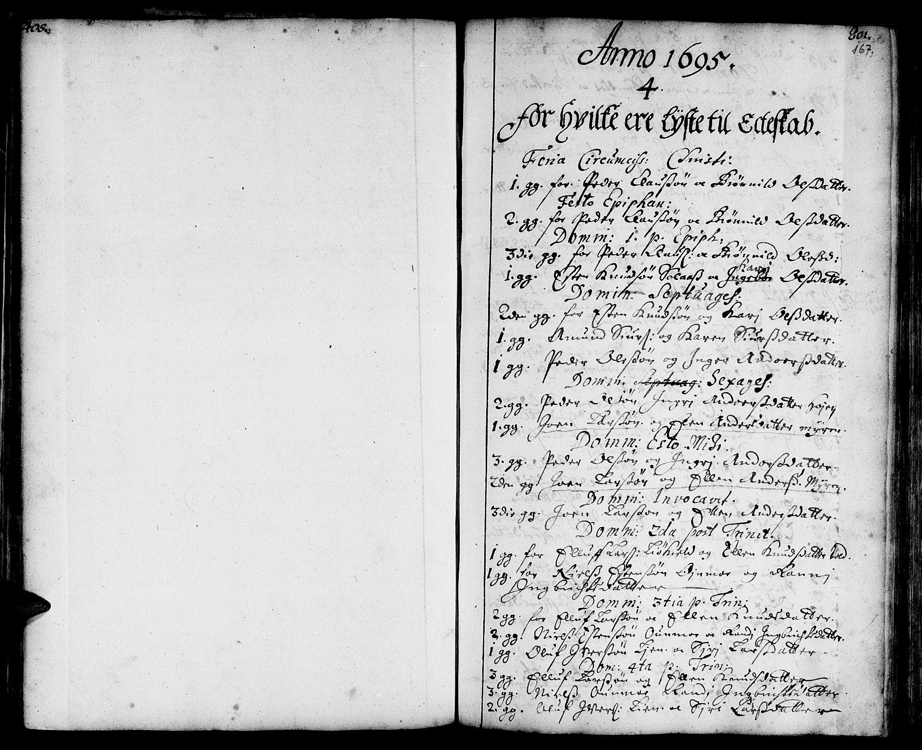 SAT, Ministerialprotokoller, klokkerbøker og fødselsregistre - Sør-Trøndelag, 668/L0801: Ministerialbok nr. 668A01, 1695-1716, s. 166-167